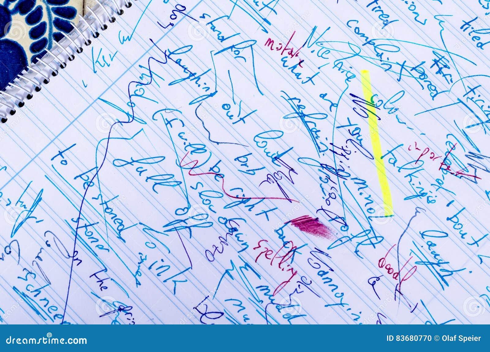 Scribbling on Horizontal Writing Paper