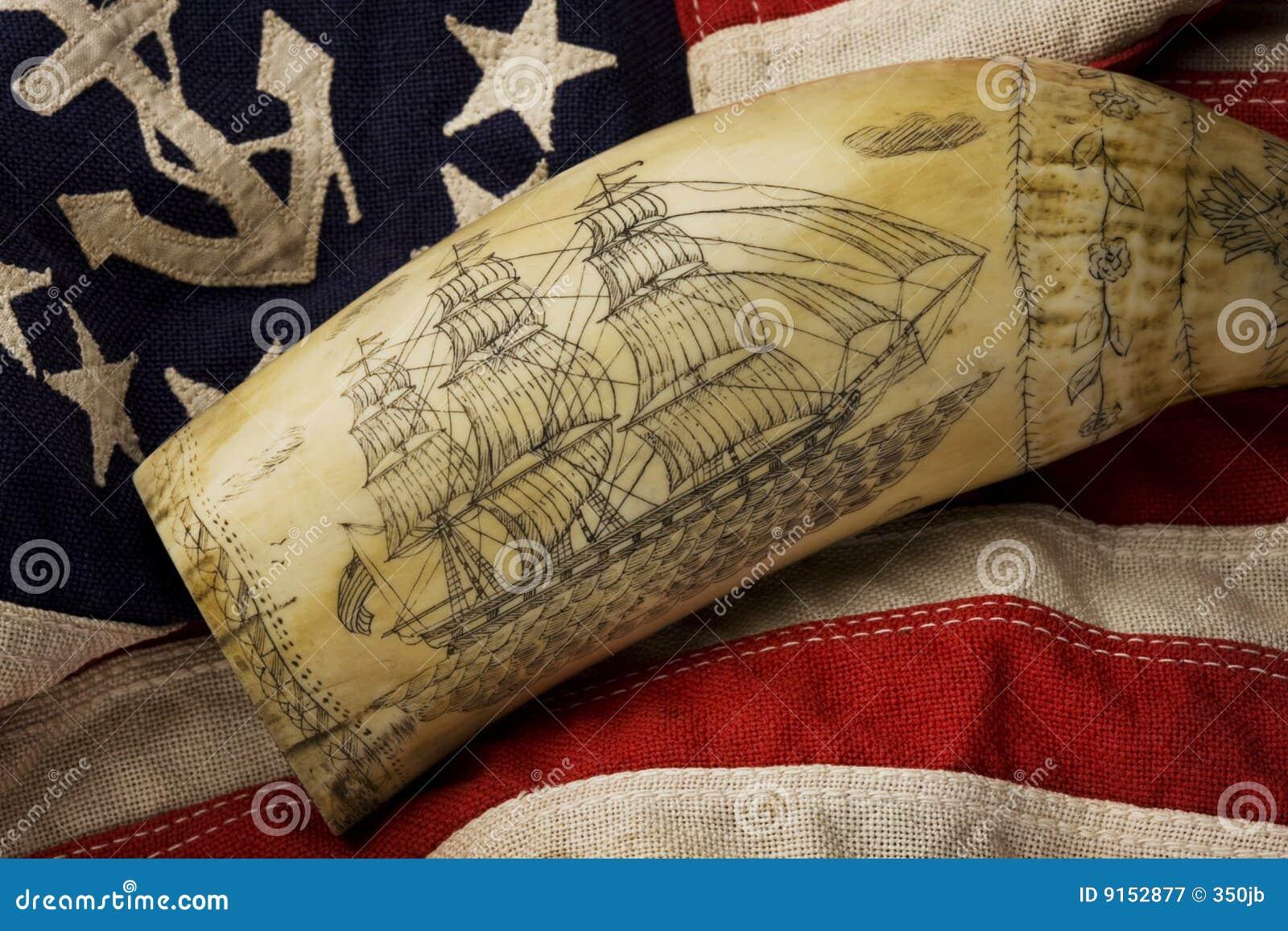 Scrimshaw Stock Image Of Ship Marine Maritime