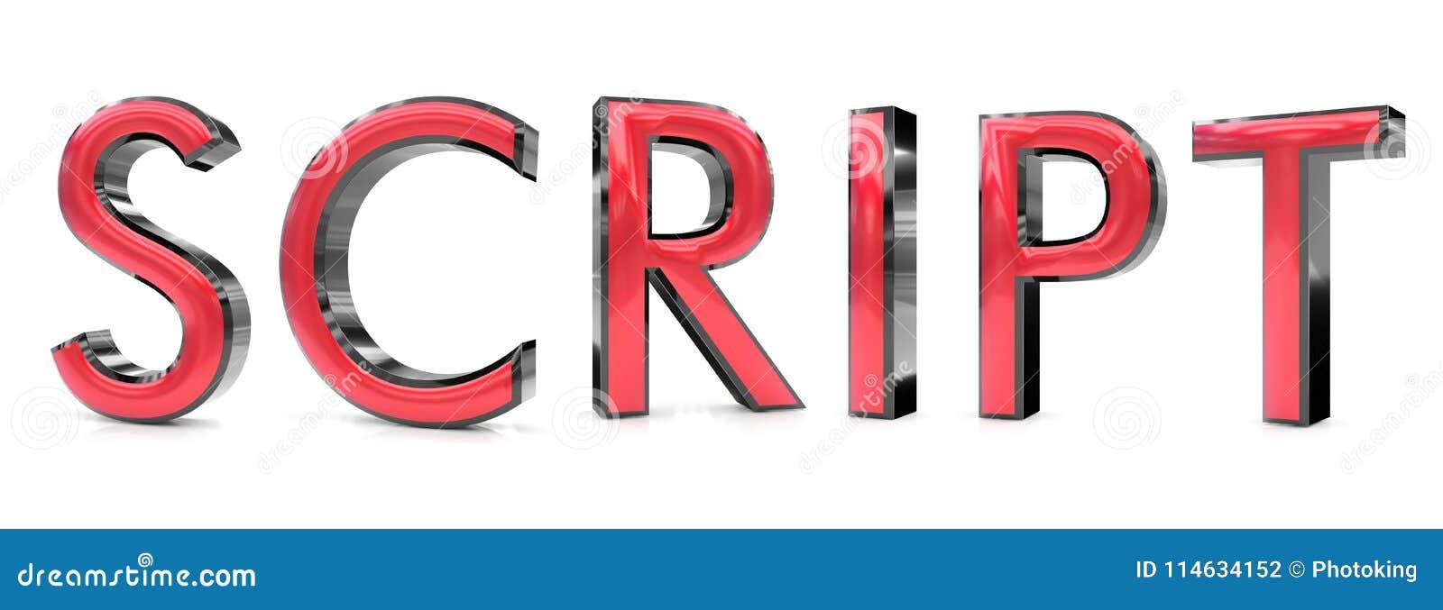 script 3d word stock illustration illustration of background
