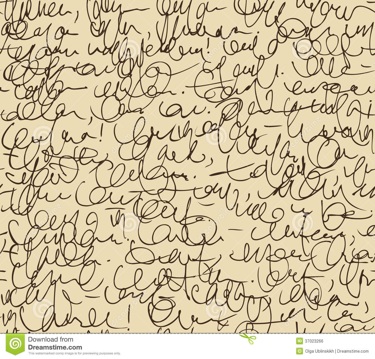 Script Seamless Background Sketch Of Writing Calligraphy