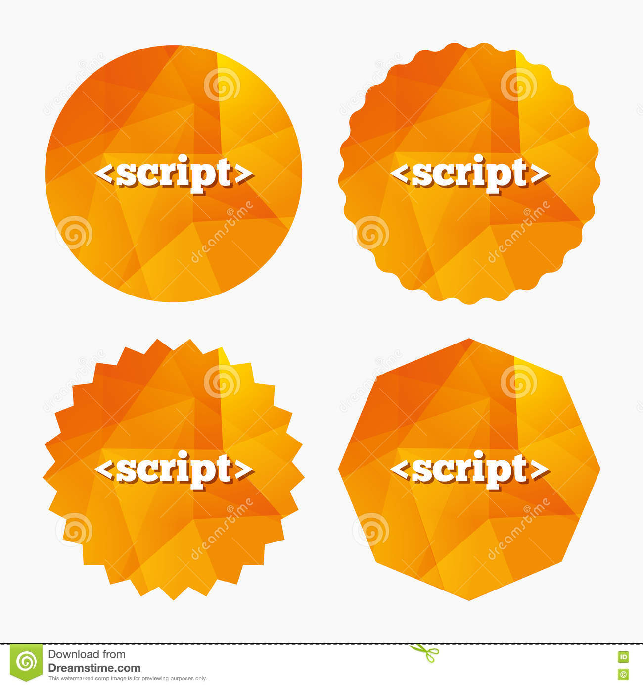Script Sign Icon  Javascript Code Symbol  Stock Vector