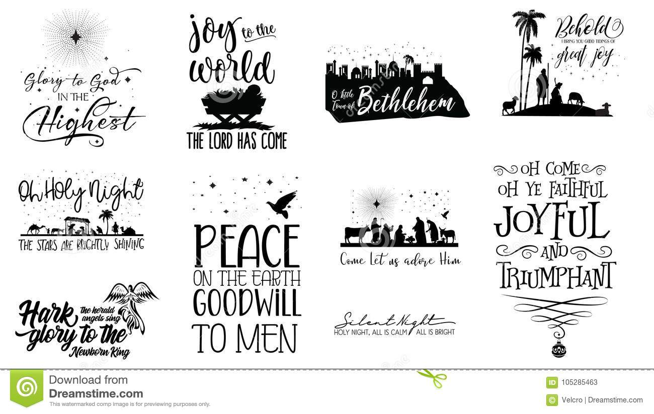 Scripture Christmas Quotes stock vector. Illustration of designed ...
