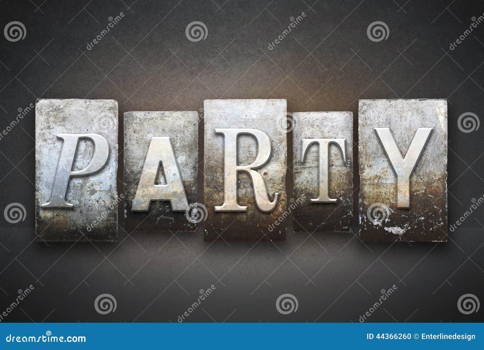 Scritto tipografico del partito