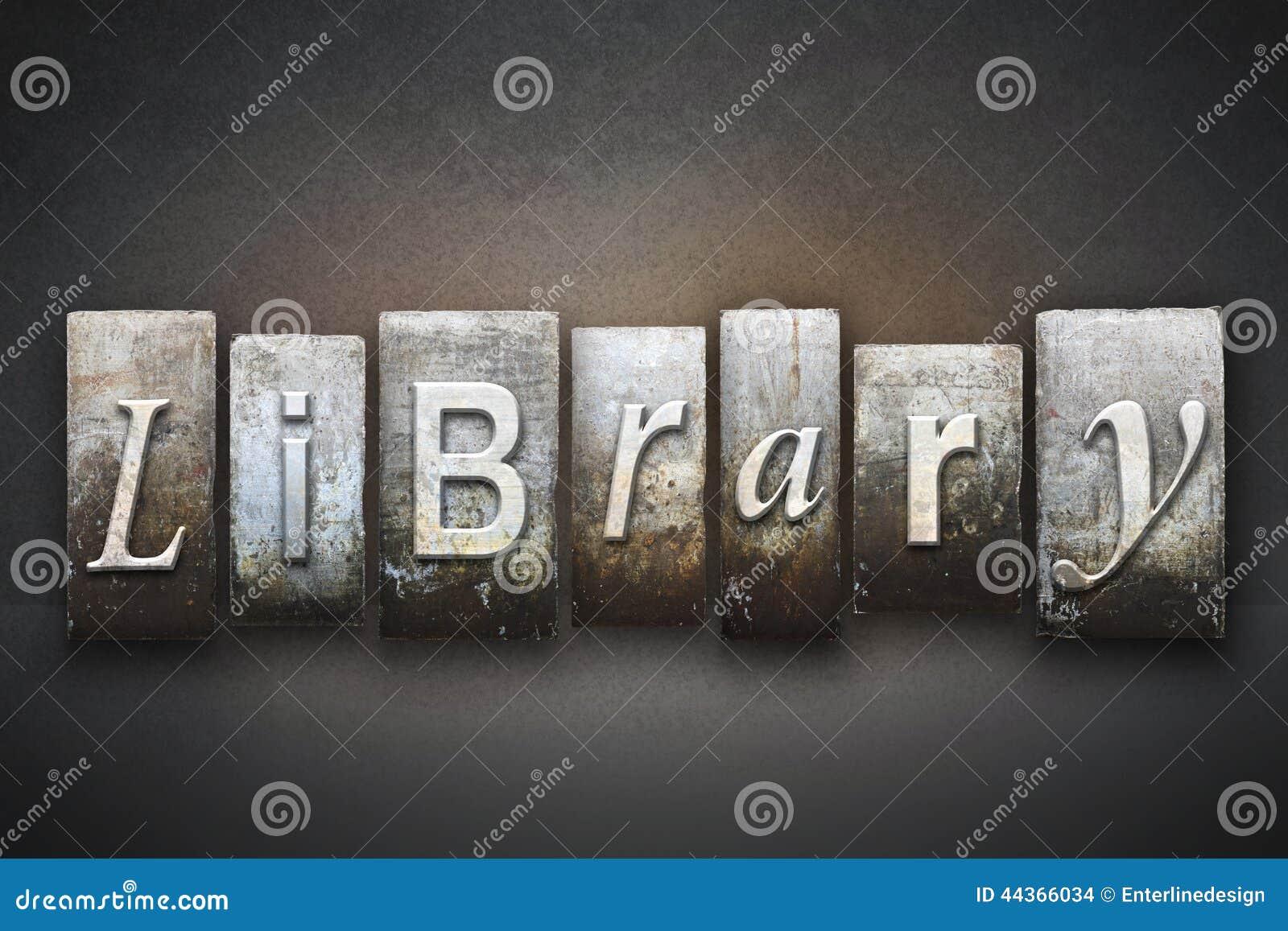 Scritto tipografico delle biblioteche