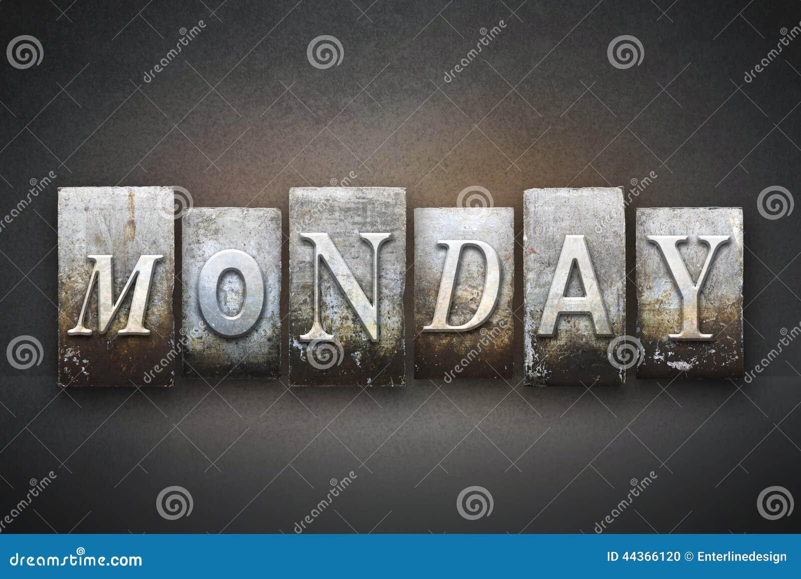 Scritto tipografico di lunedì