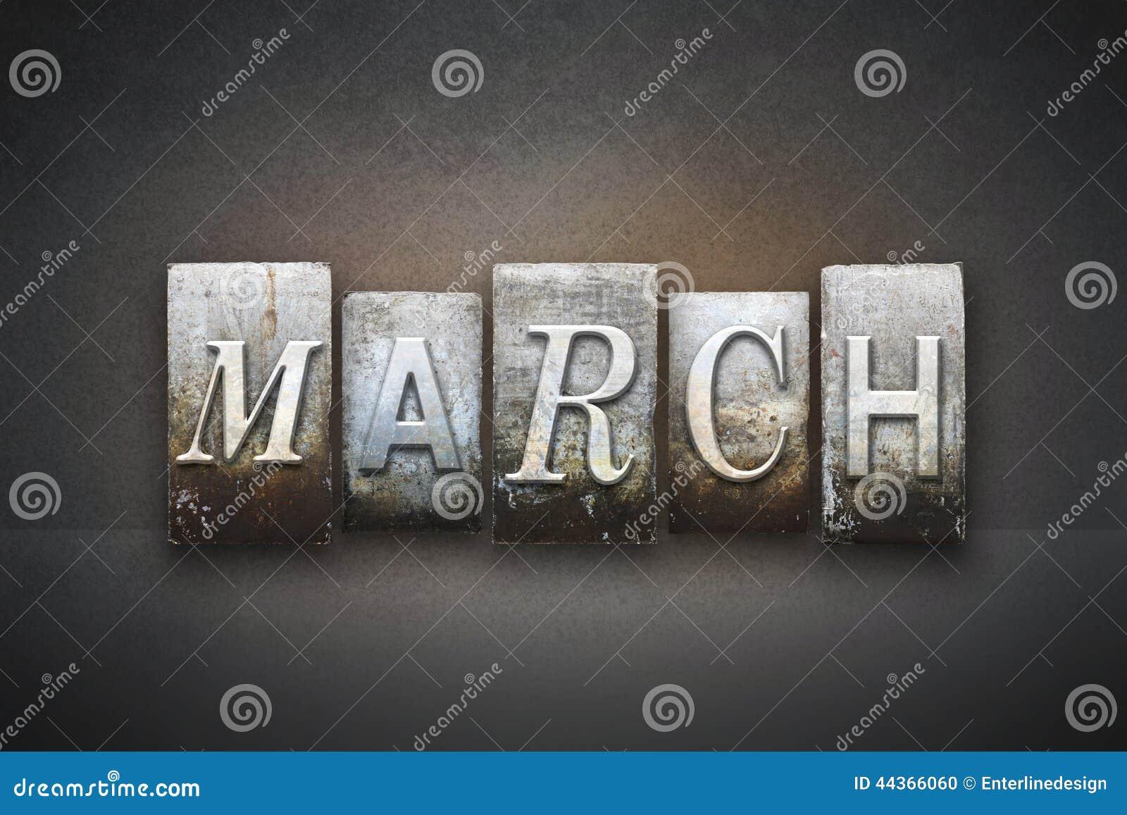 Scritto tipografico di marzo