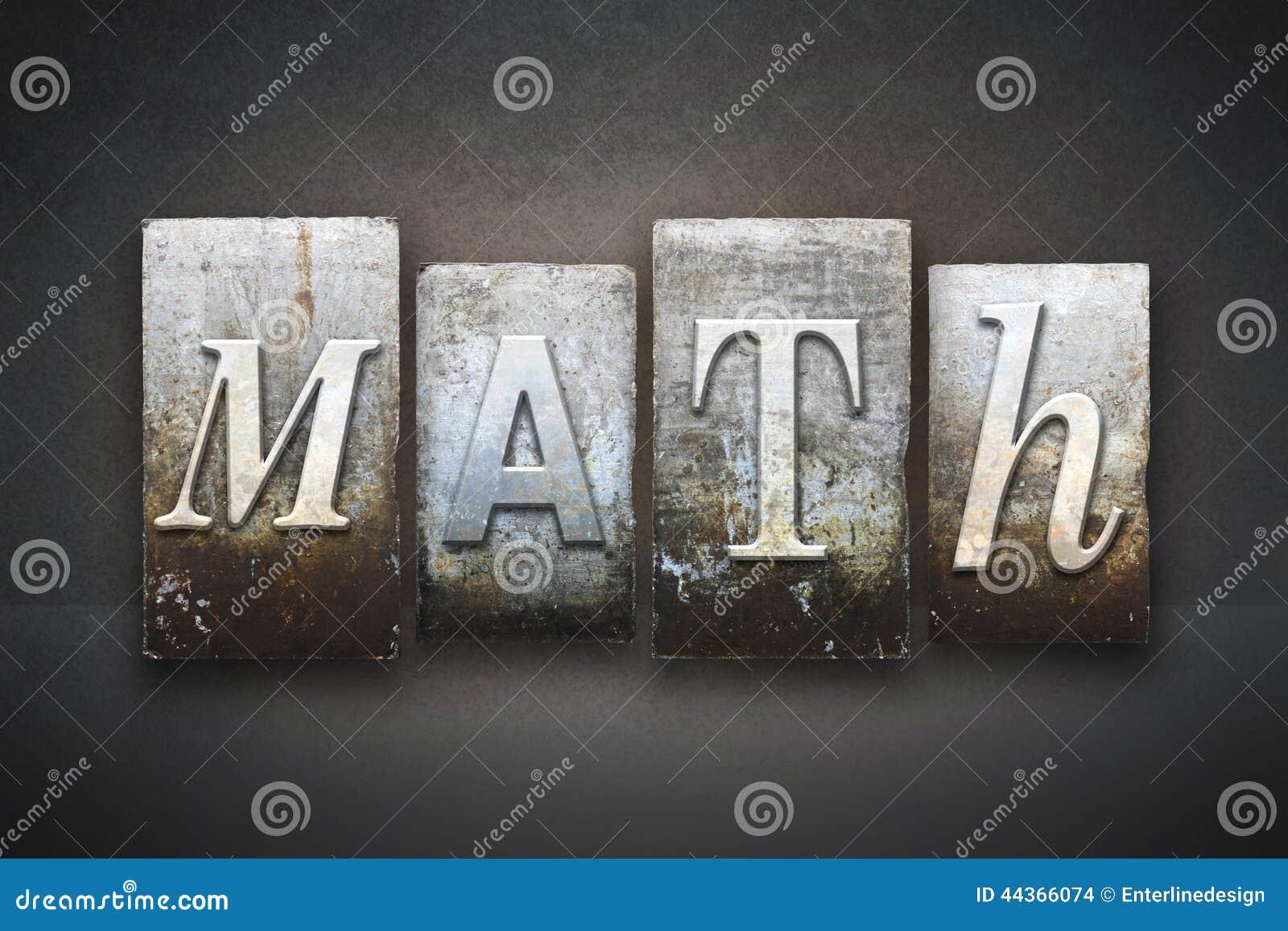 Scritto tipografico di per la matematica