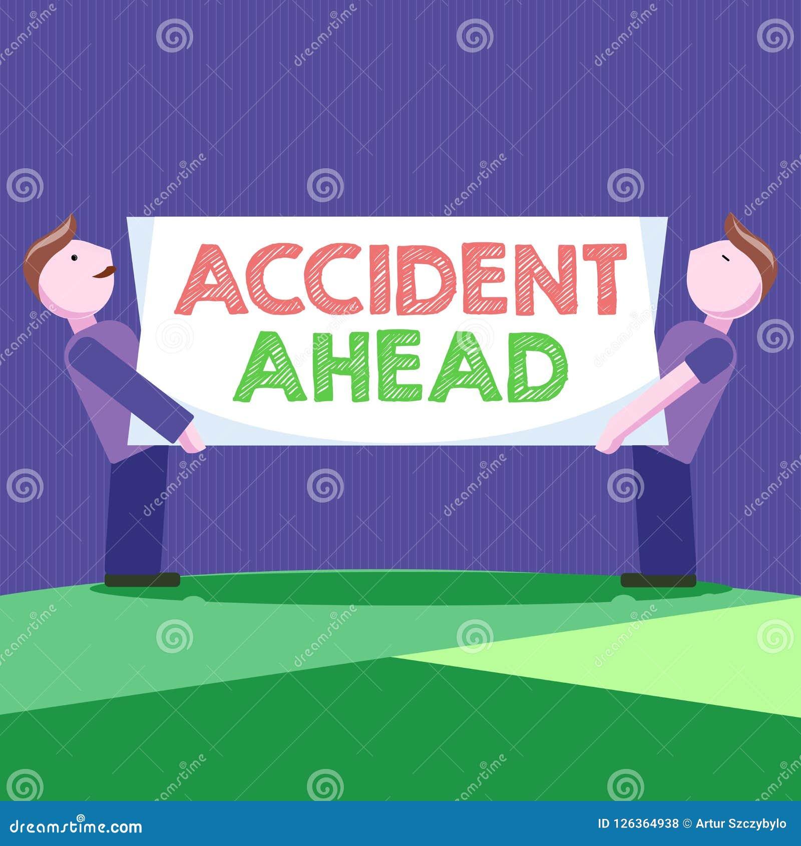 Scrittura concettuale della mano che mostra incidente avanti La foto di affari che montra l evento sfavorevole è deviazione pront