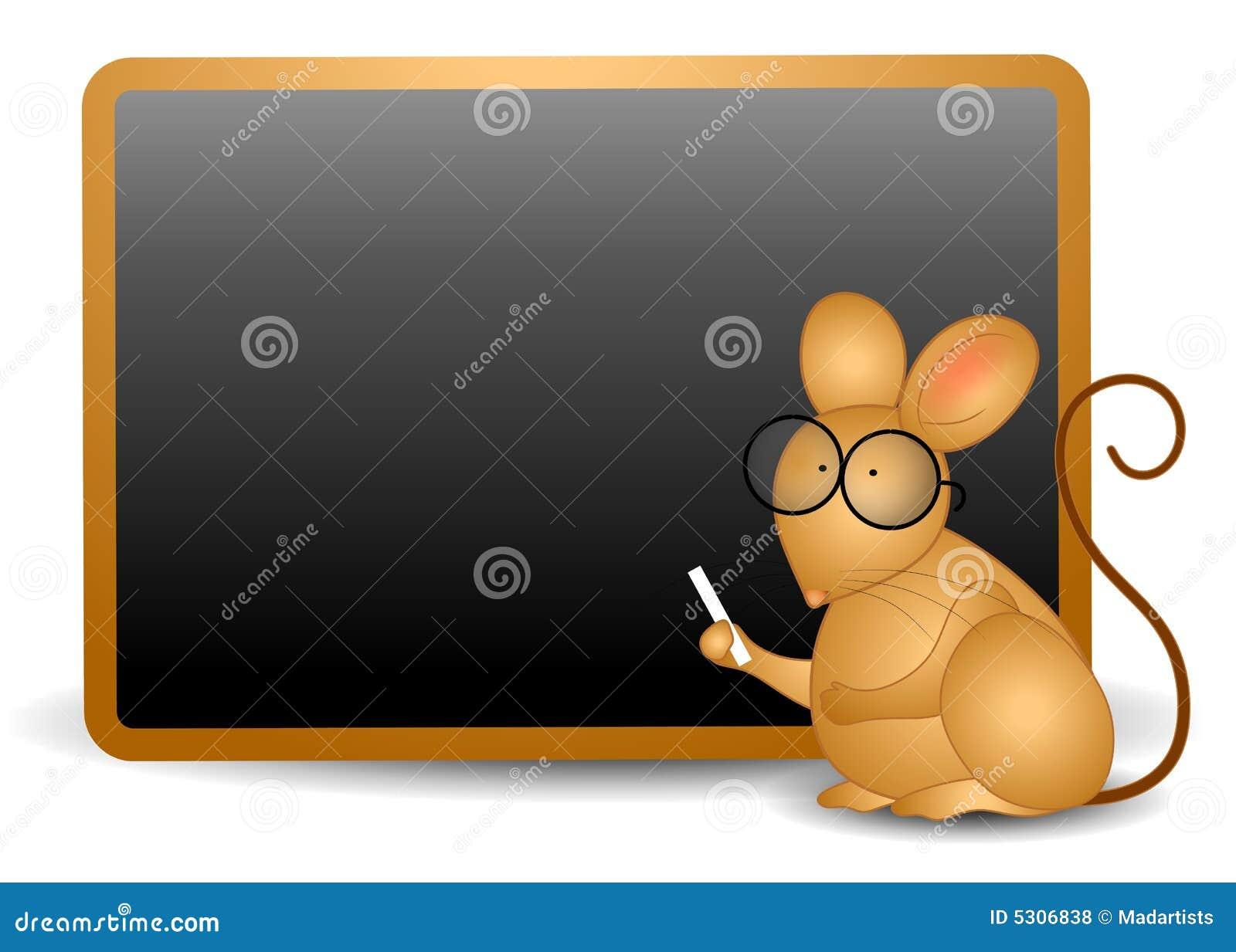 Download Scrittura Del Mouse Sulla Lavagna Illustrazione di Stock - Illustrazione di lavagna, formazione: 5306838