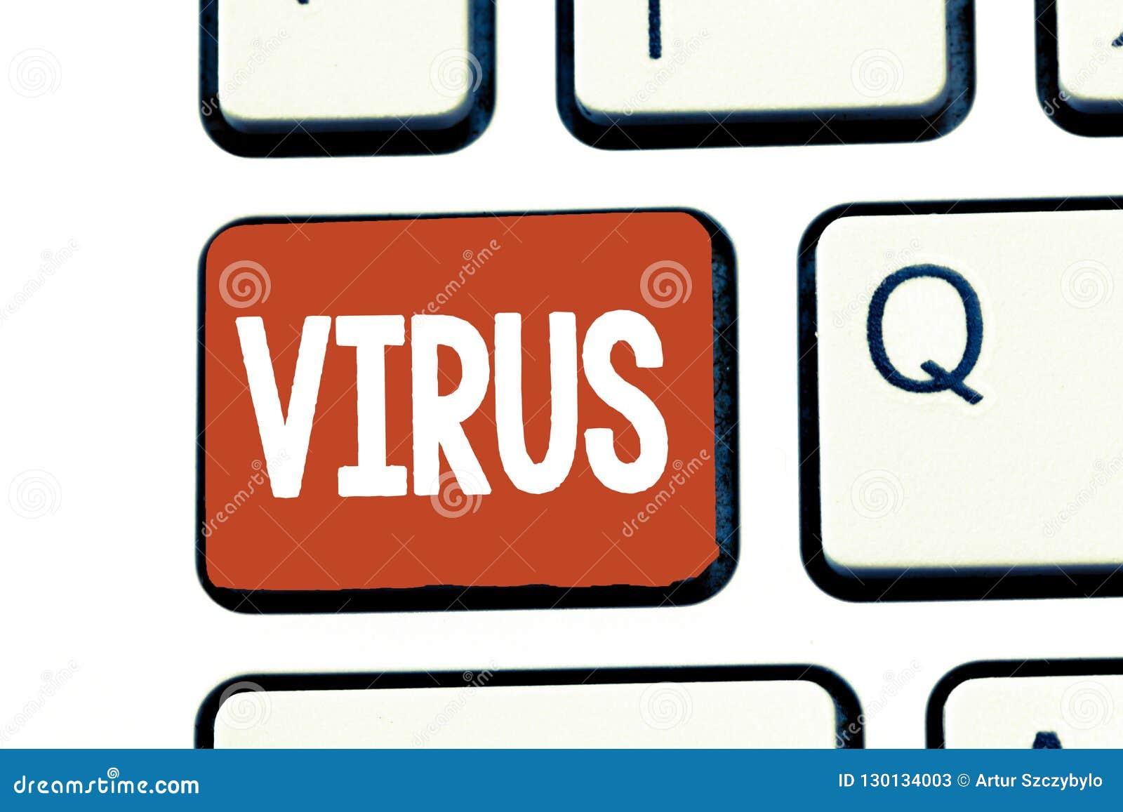 Scrittura del virus di rappresentazione della nota Foto di affari che montra agente infettivo che consiste molecola acida nucleic