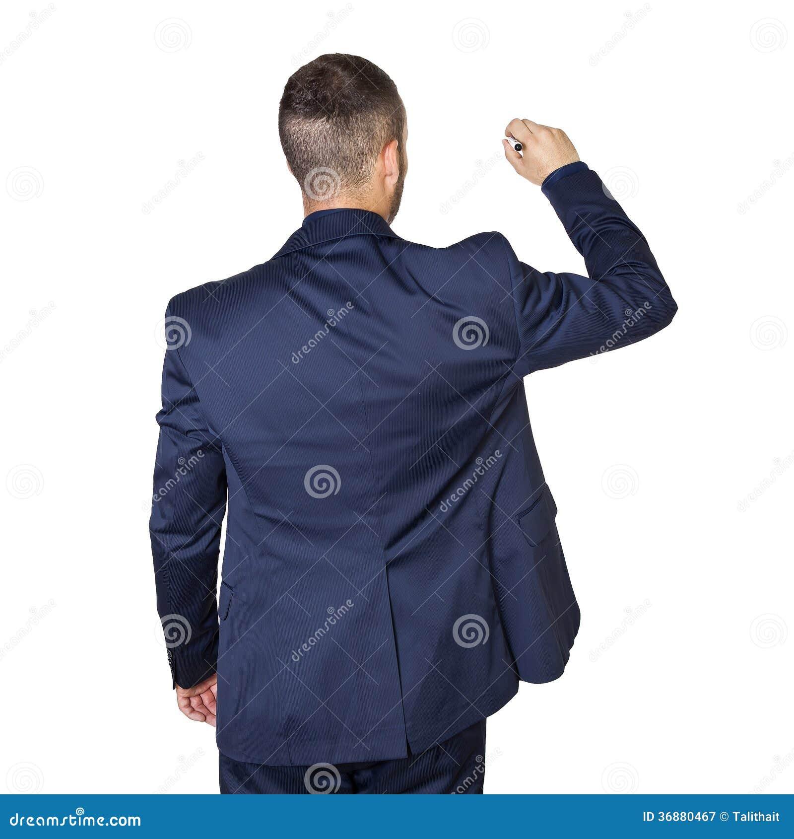 Download Scrittura Dell'uomo D'affari Di Youmg Immagine Stock - Immagine di vendita, crisi: 36880467