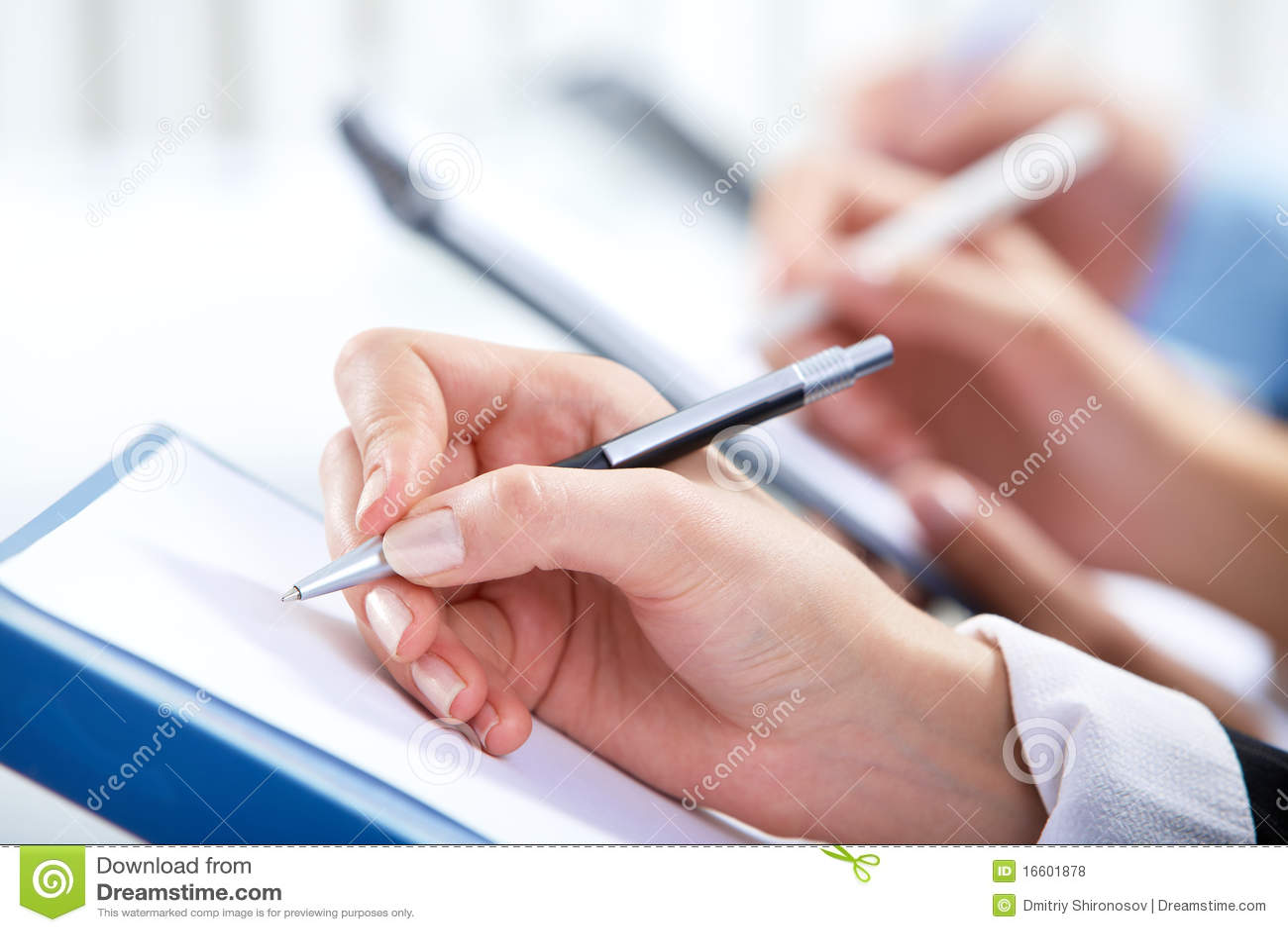 Scrittura della mano