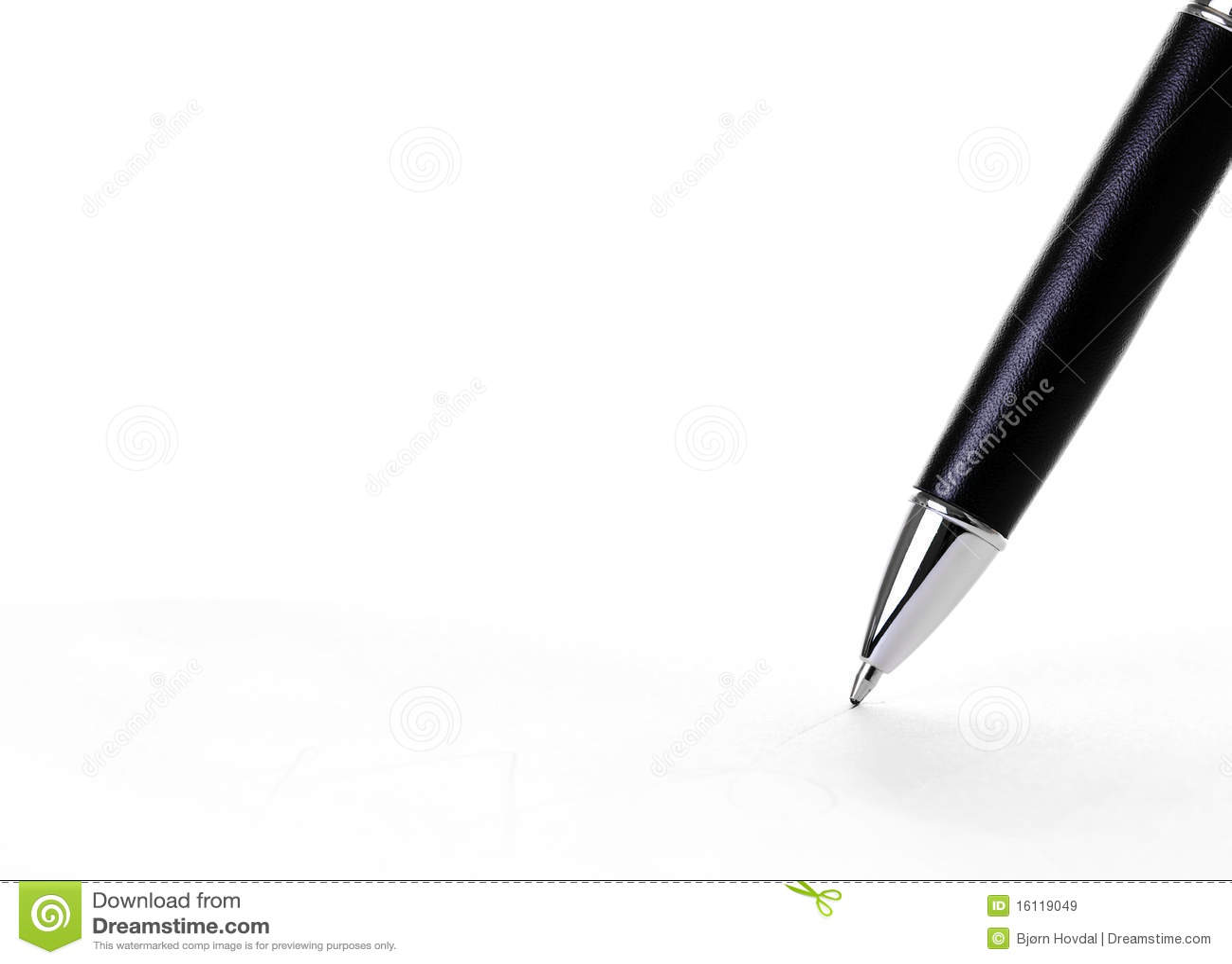 Scrittura della penna