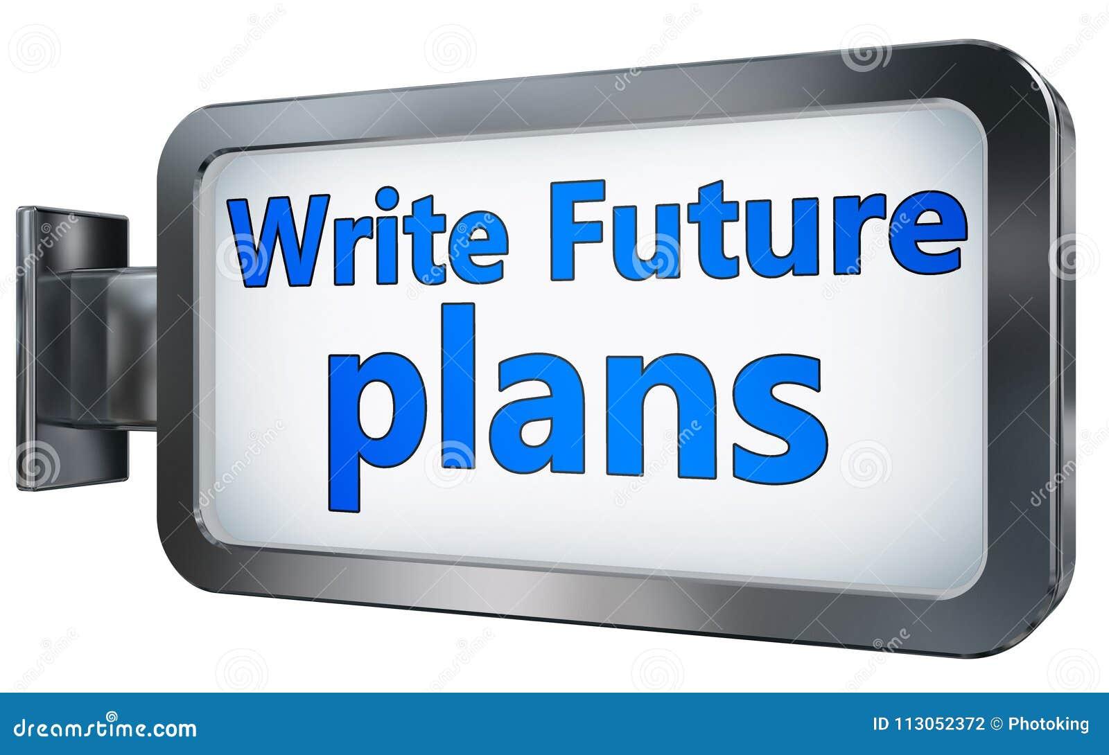 Scriva i progetti per il futuro sul tabellone per le affissioni