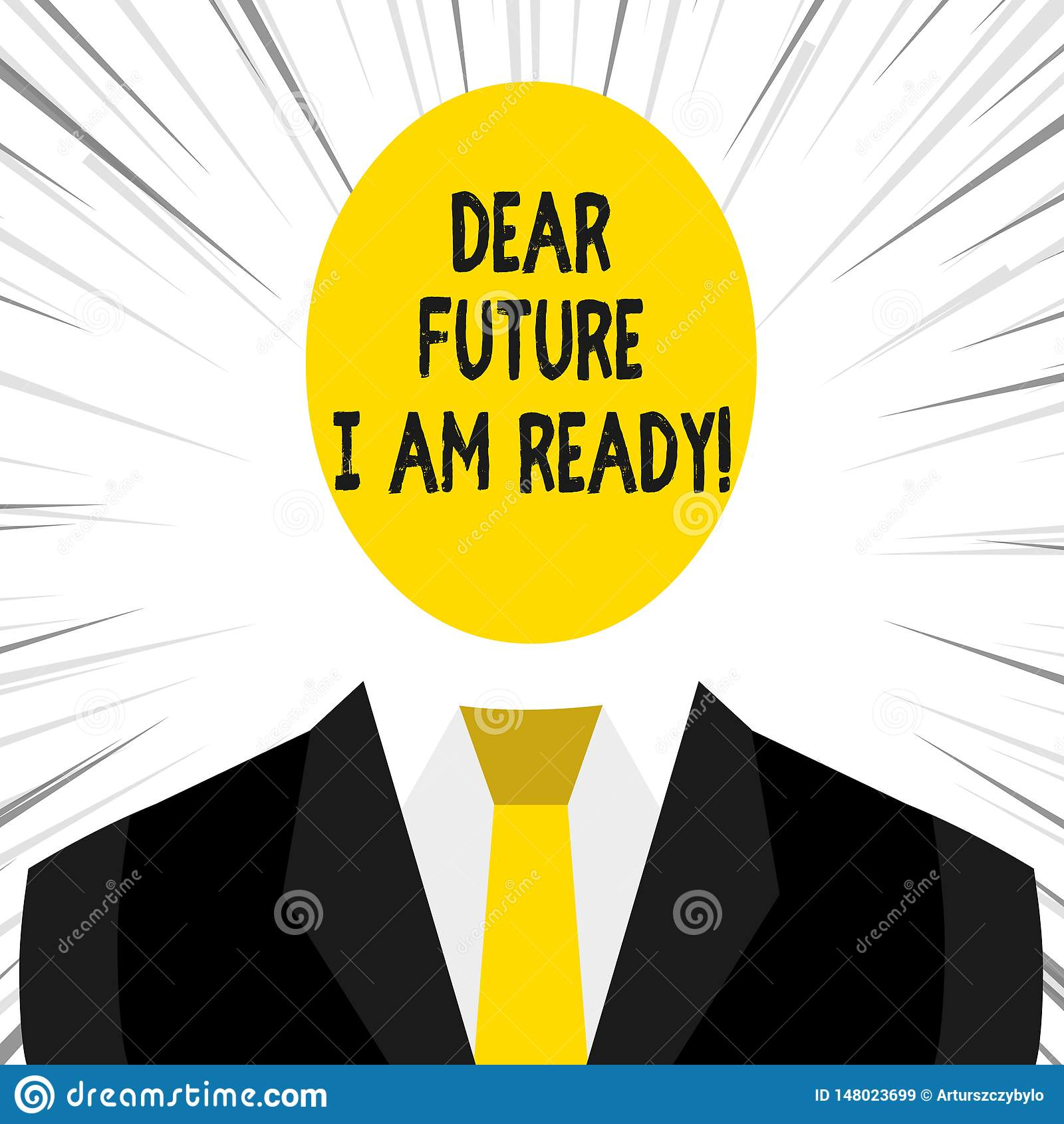 Scrivendo la nota che mostra a futuro caro sono pronto Foto di affari che montra situazione di azione dello stato completamente c