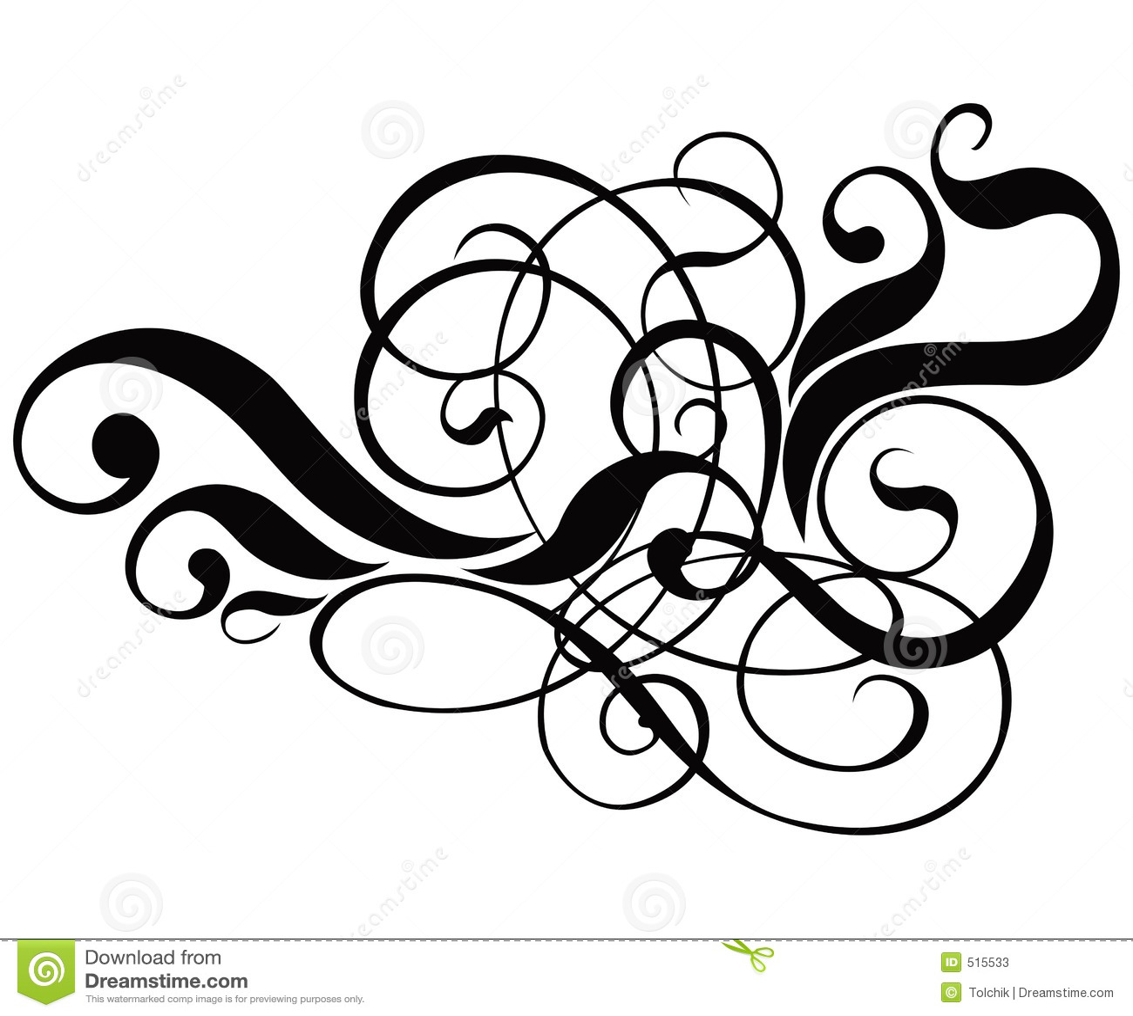 Scroll cartouche decor vector stock vector image 515533 for Decorative scrollwork