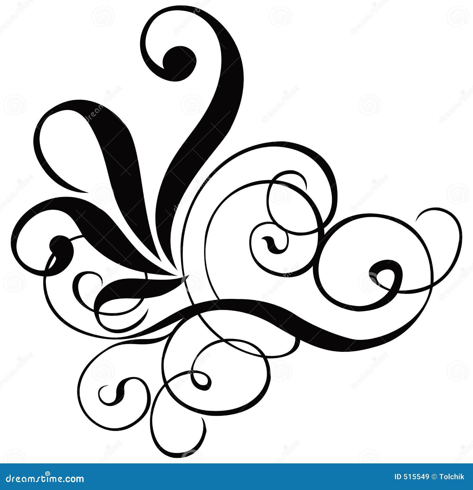 Scroll cartouche decor vector stock vector image 515549 for Decorative scrollwork