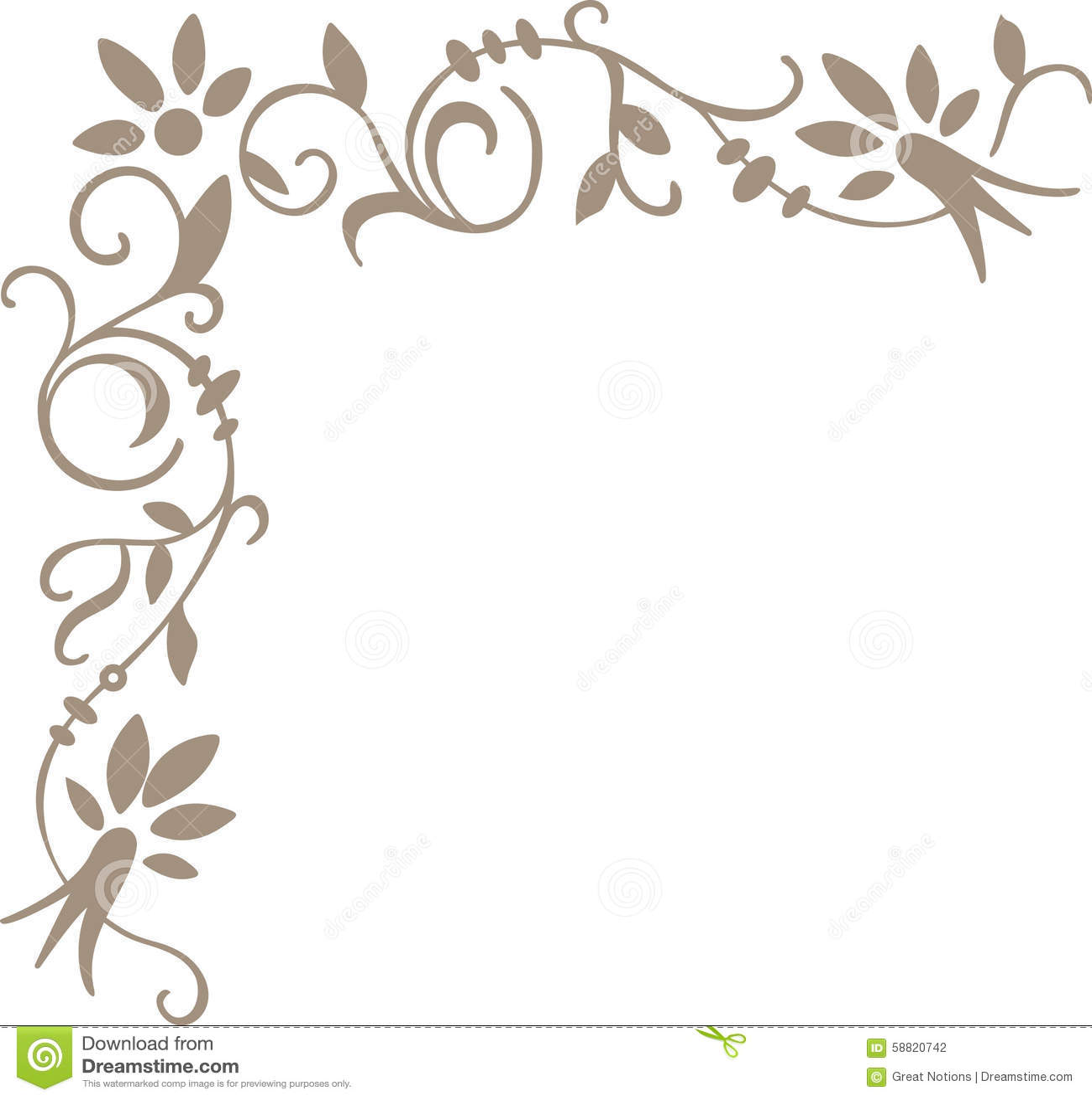 Scroll corner border stock illustration image of edging for Beautiful painting designs