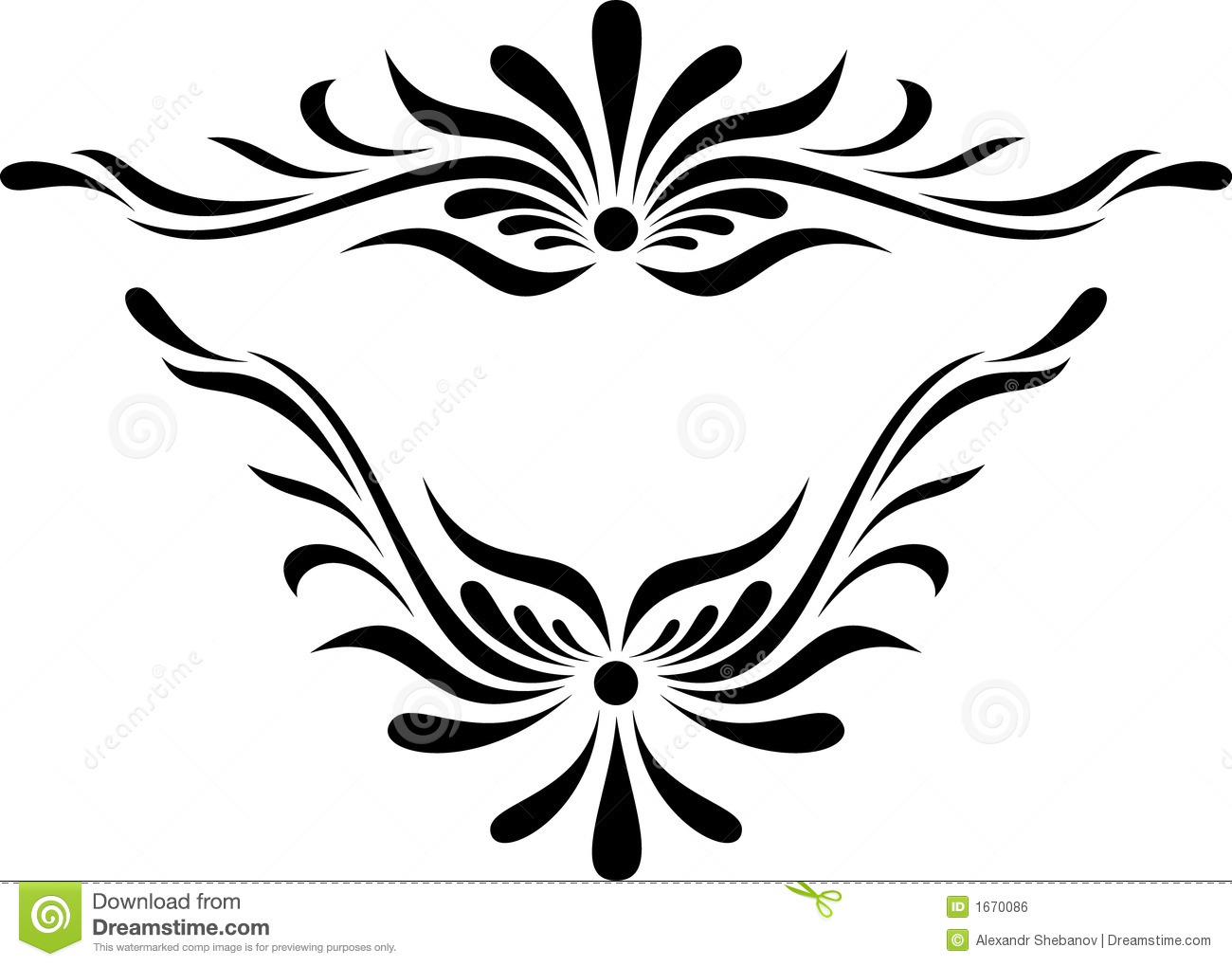 scroll design royalty free stock image