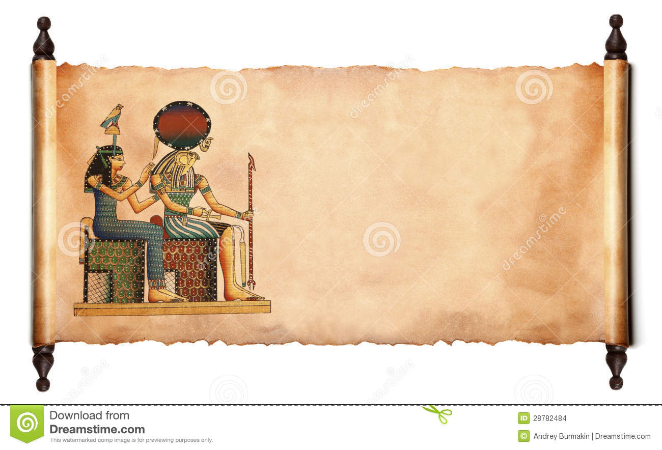 Scroll With Egyptian Papyrus Stock Images - Image: 28782484