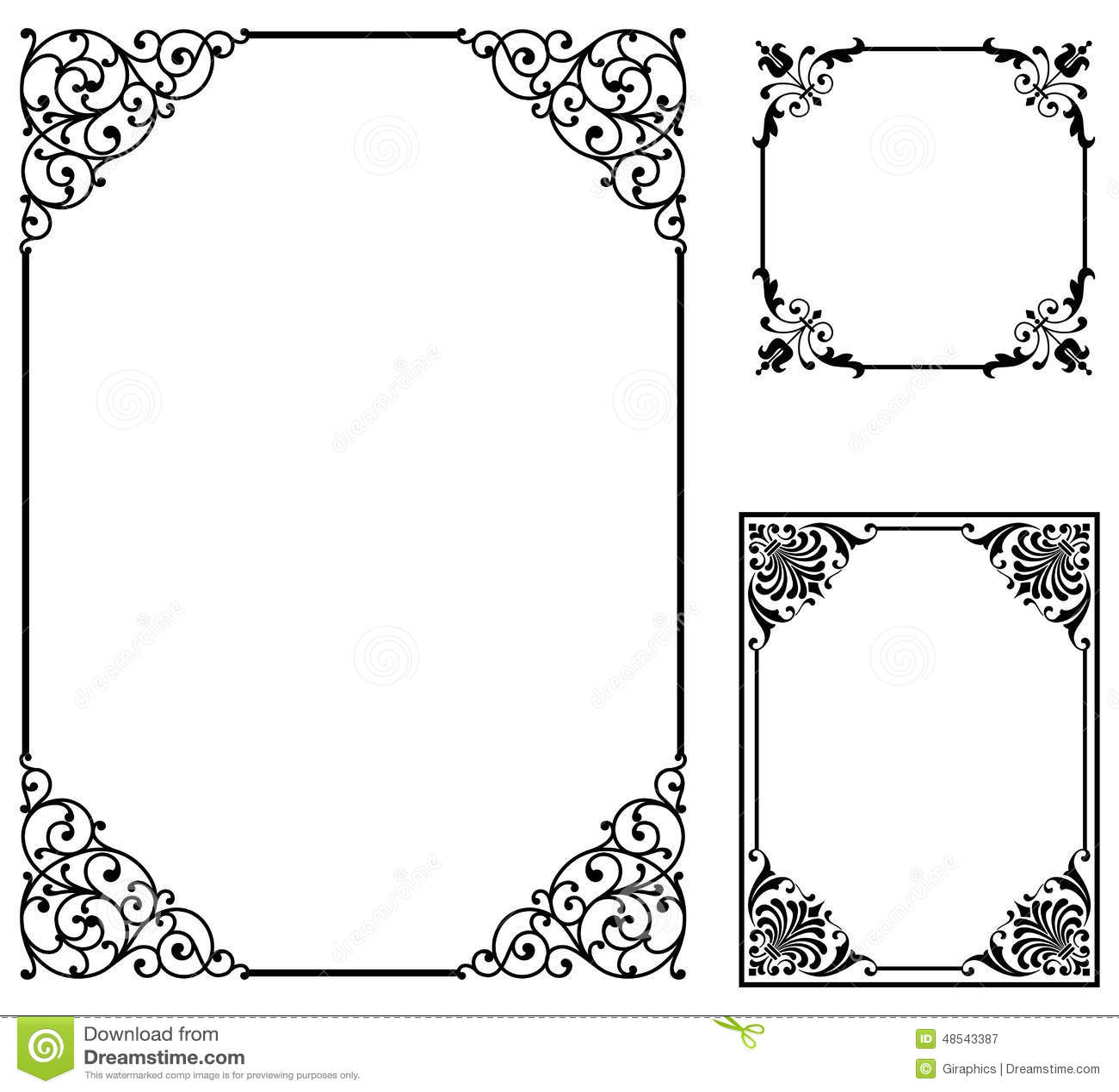 Scroll Frames stock vector. Illustration of certificate - 48543387