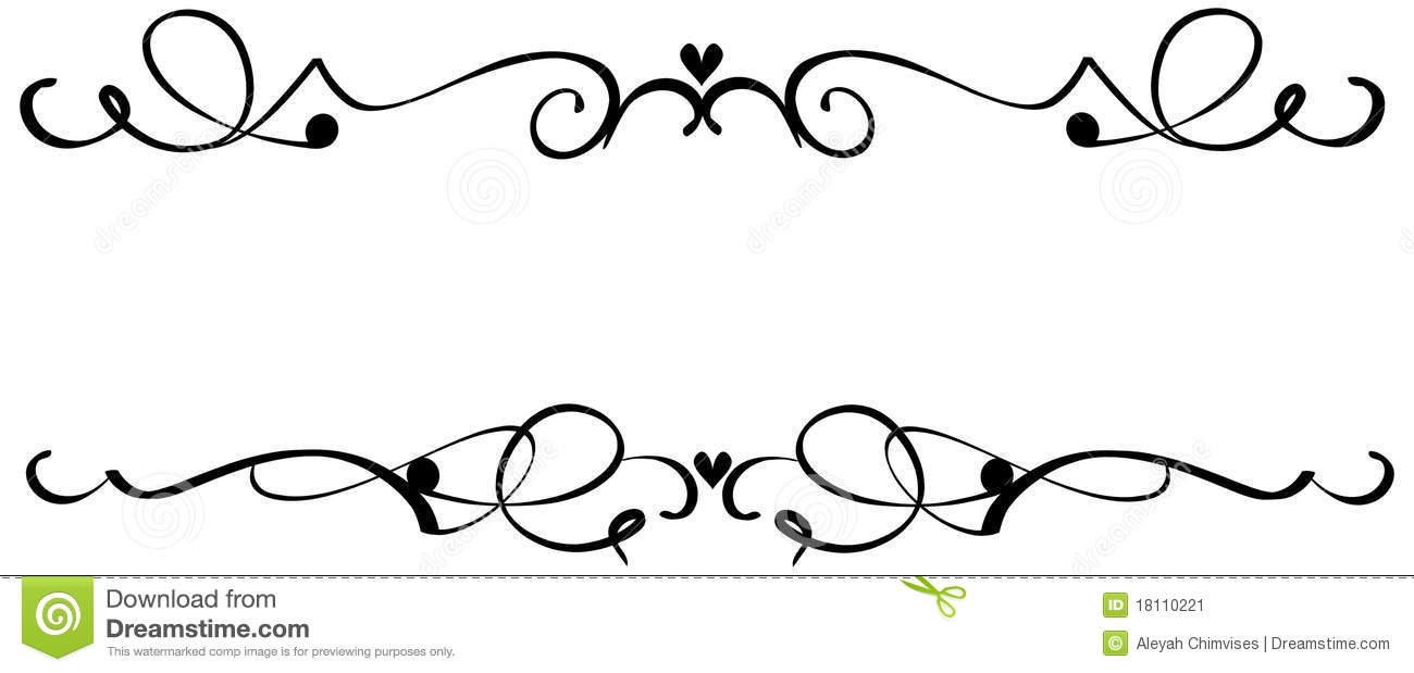 Scroll Heart Ornaments stock vector. Illustration of line - 18110221