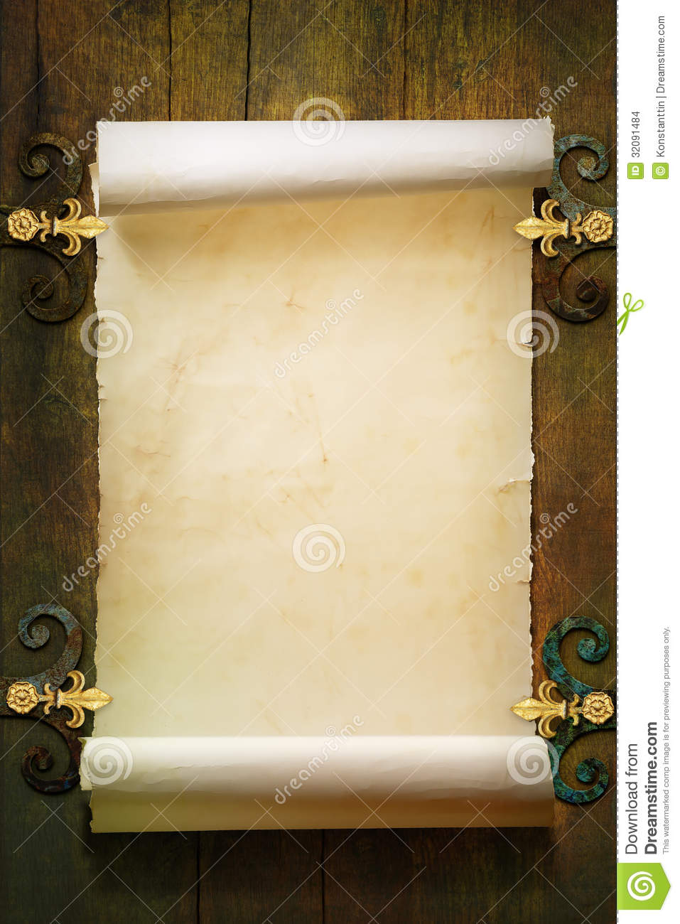 scroll old paper background stock photo 32091484 - megapixl, Powerpoint templates