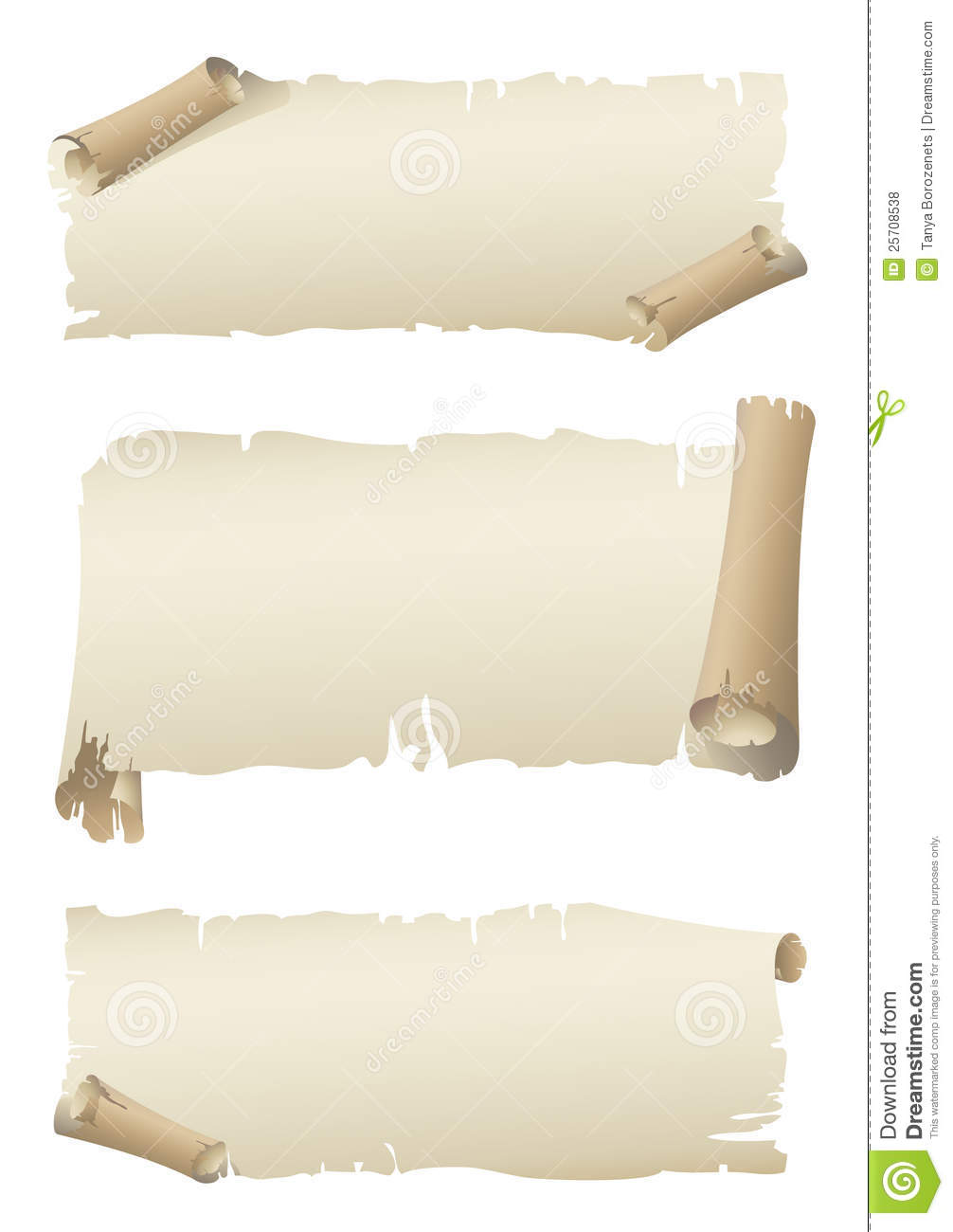 Scroll Old Paper Banners Royalty Free Stock Photos - Image: 25708538