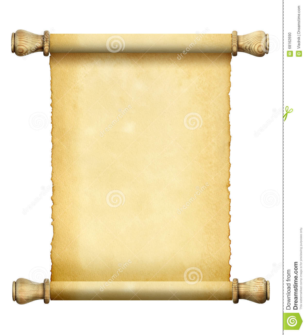 Antique Scroll Paper: Scroll Of Old Paper Stock Photo