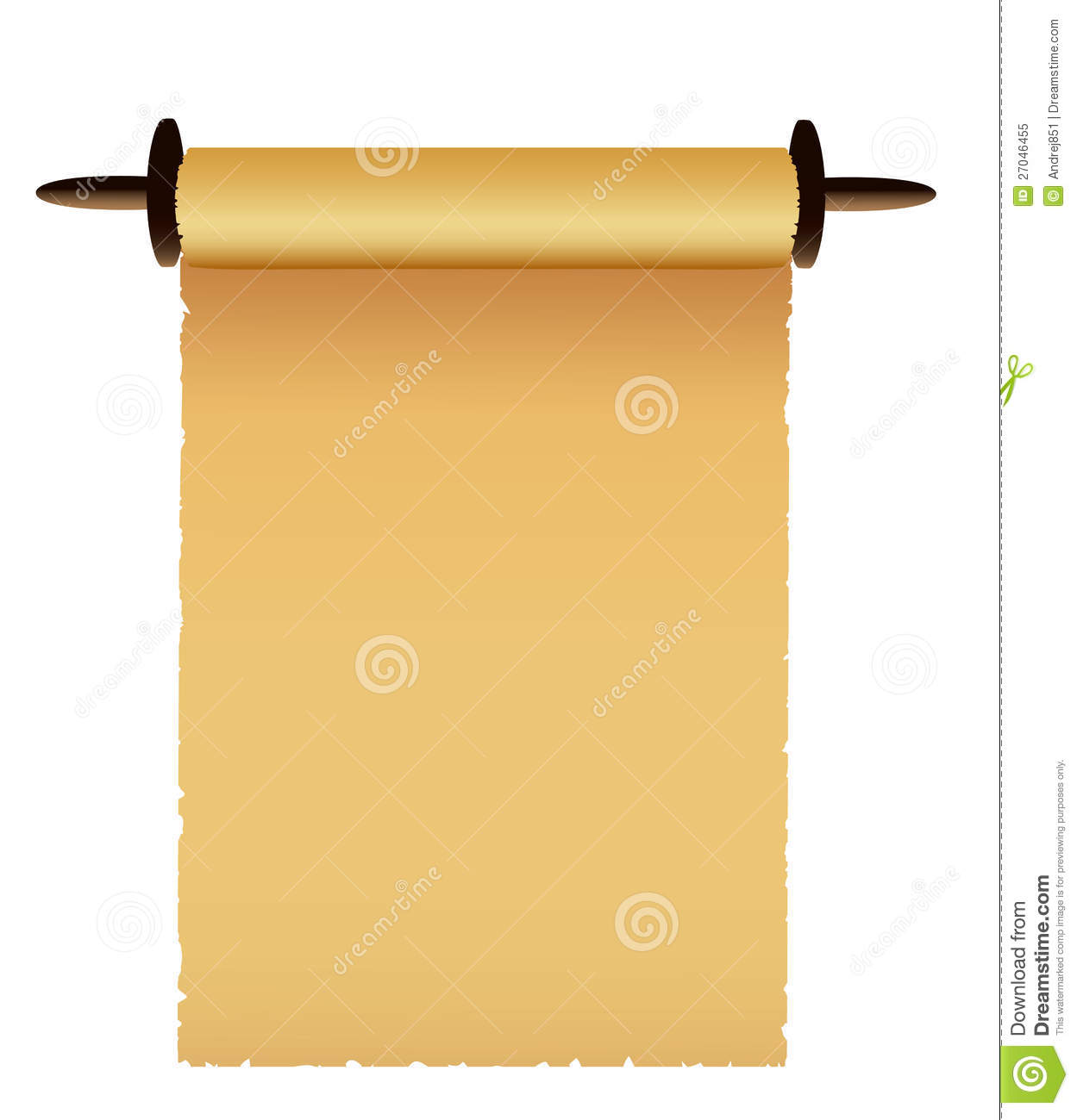 scroll of old paper  vector stock vector