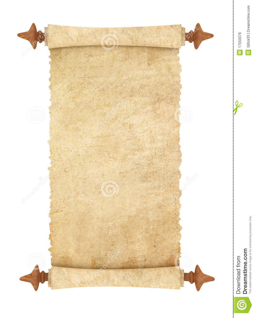 scroll of old parchment stock illustration  image of ancient