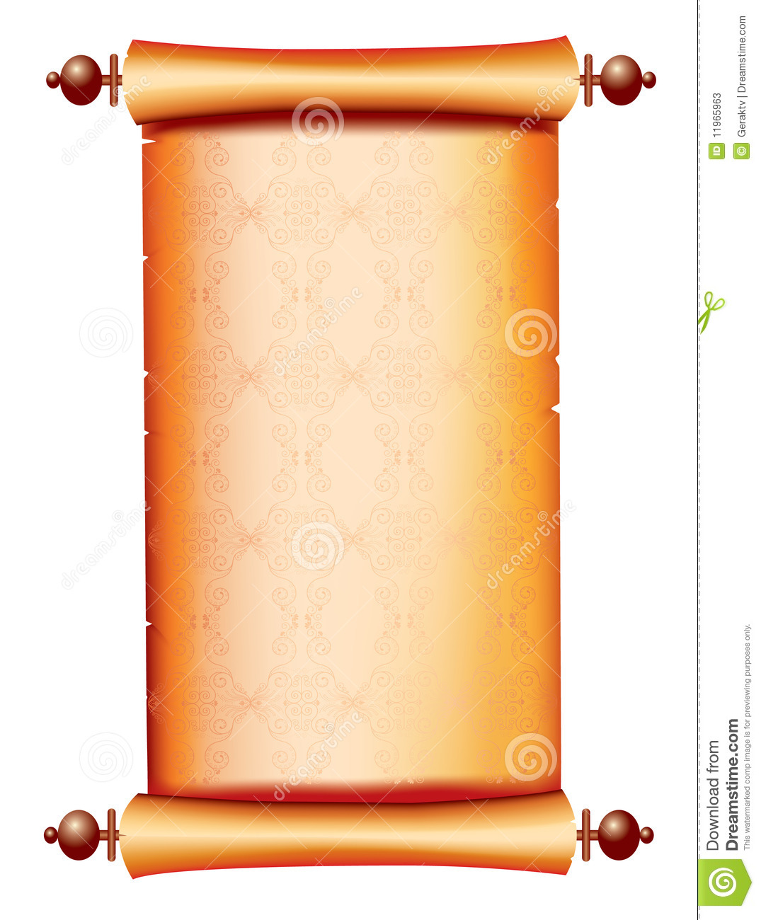 Scroll Paper For Text.Vector Background Stock Photos - Image: 11965963