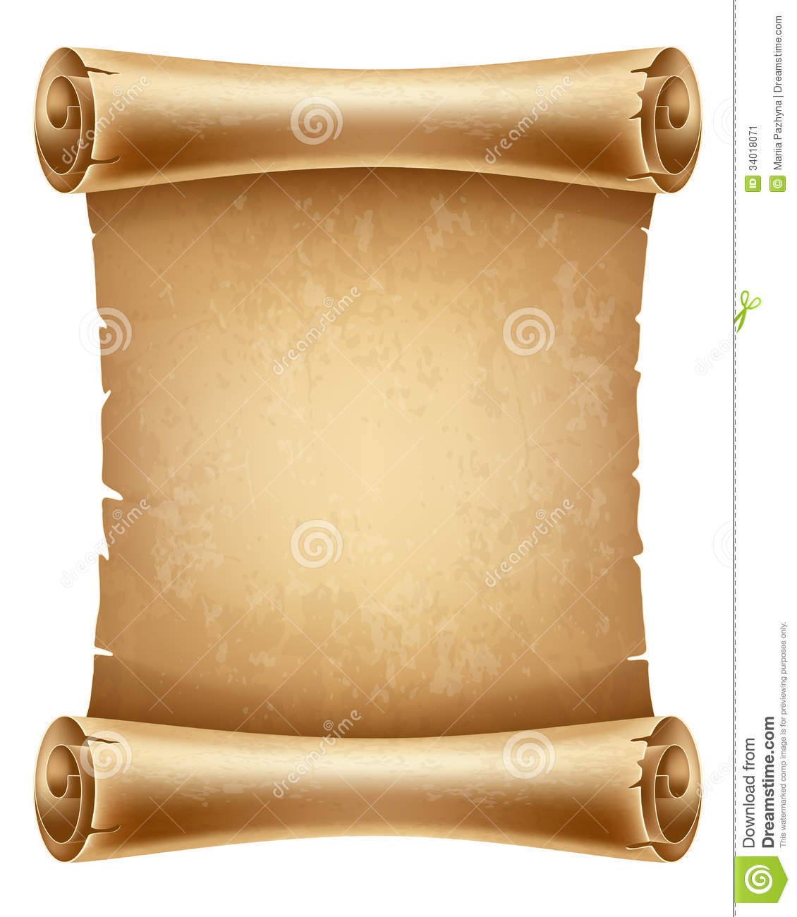 Scroll paper stock vector. Illustration of brown, blank ...