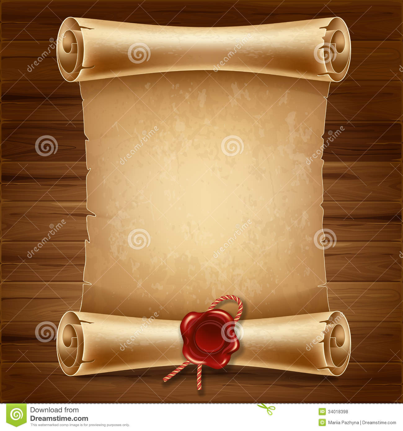 Scroll Paper Royalty Free Stock Photos Image 34018398