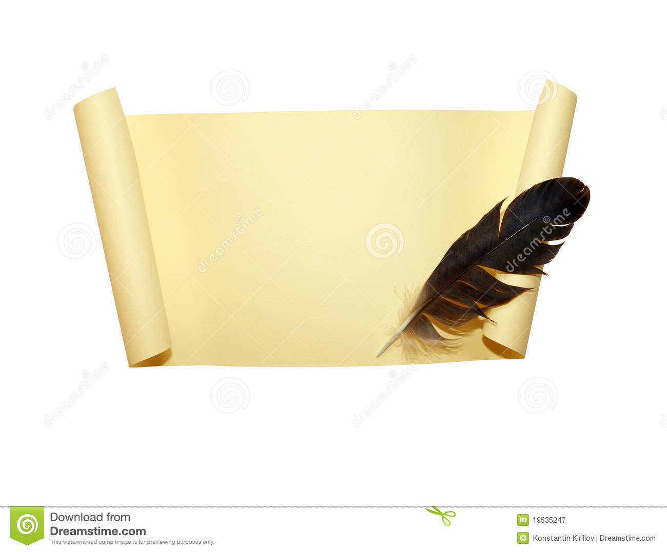 Scroll And Quill stock image. Image of quill, notice