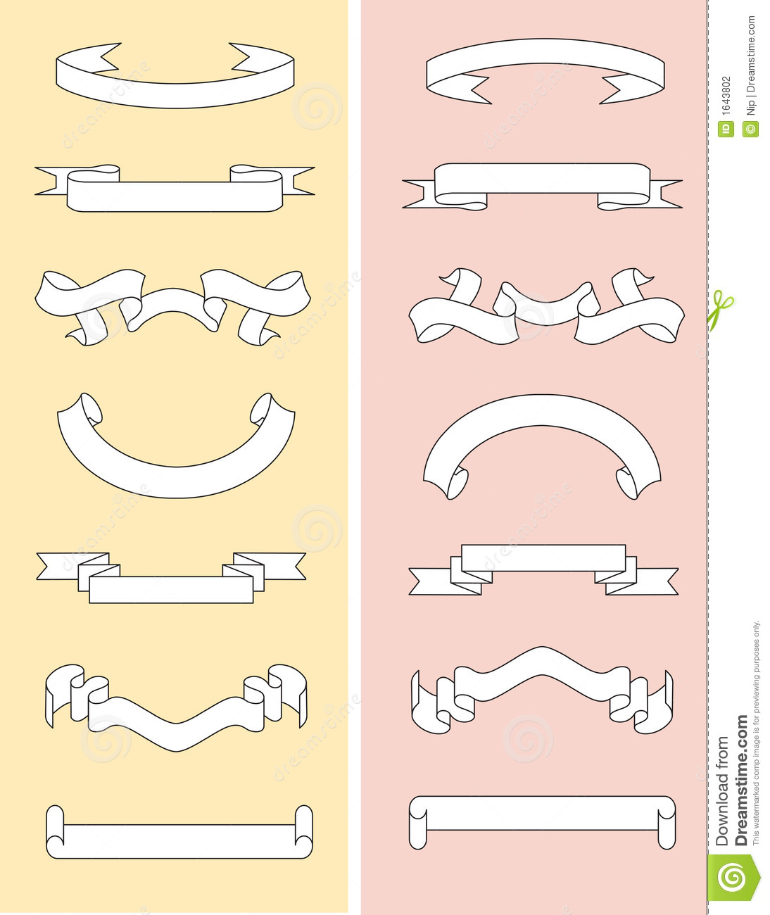 Scroll templates stock vector illustration of banner for Scroll outline template