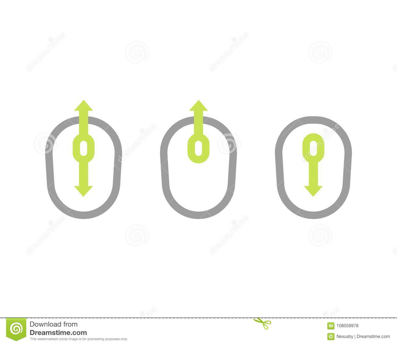 Scroll Up And Down Icon With Mouse Stock Vector Illustration Of