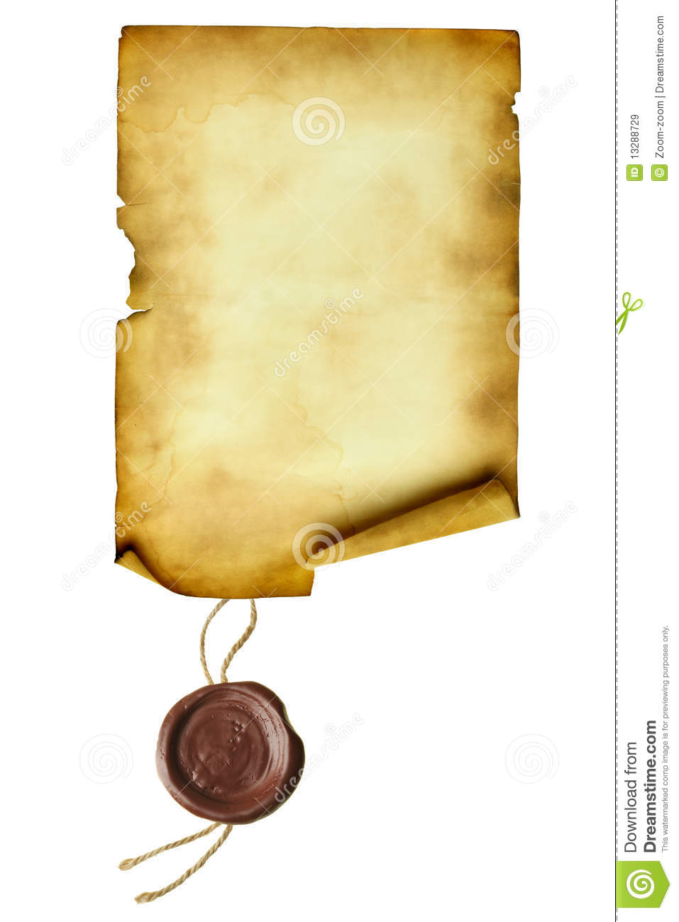 Background image zoom on scroll - Scroll With Wax Seal Royalty Free Stock Images