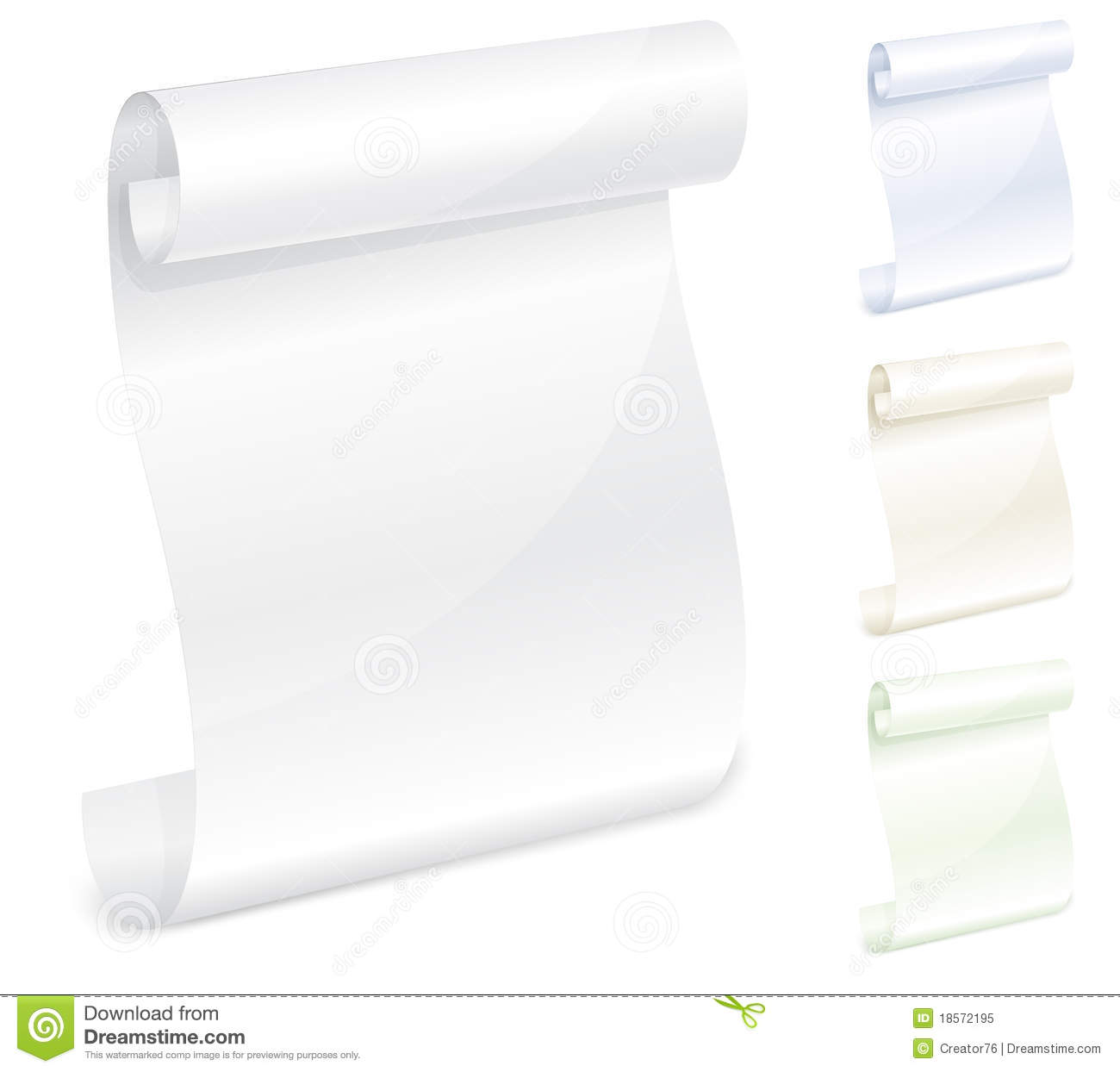 Scroll White Paper Royalty Free Stock Photo - Image: 18572195