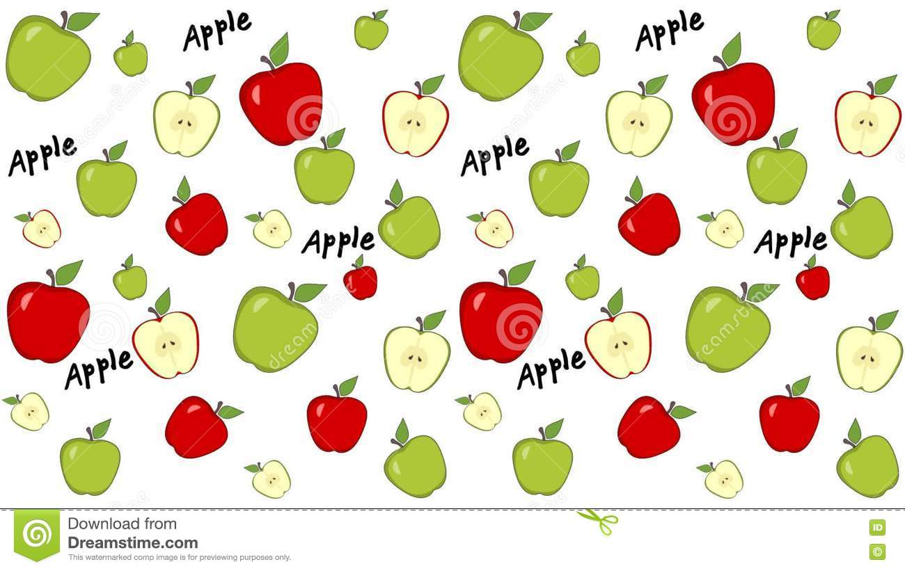 scrolling green and red apples wallpaper. loop-able animation stock