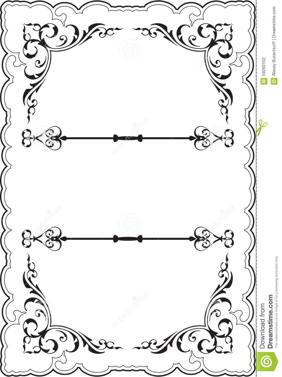 Scrolling Ornate Perfect Frame Stock Vector - Illustration of ...
