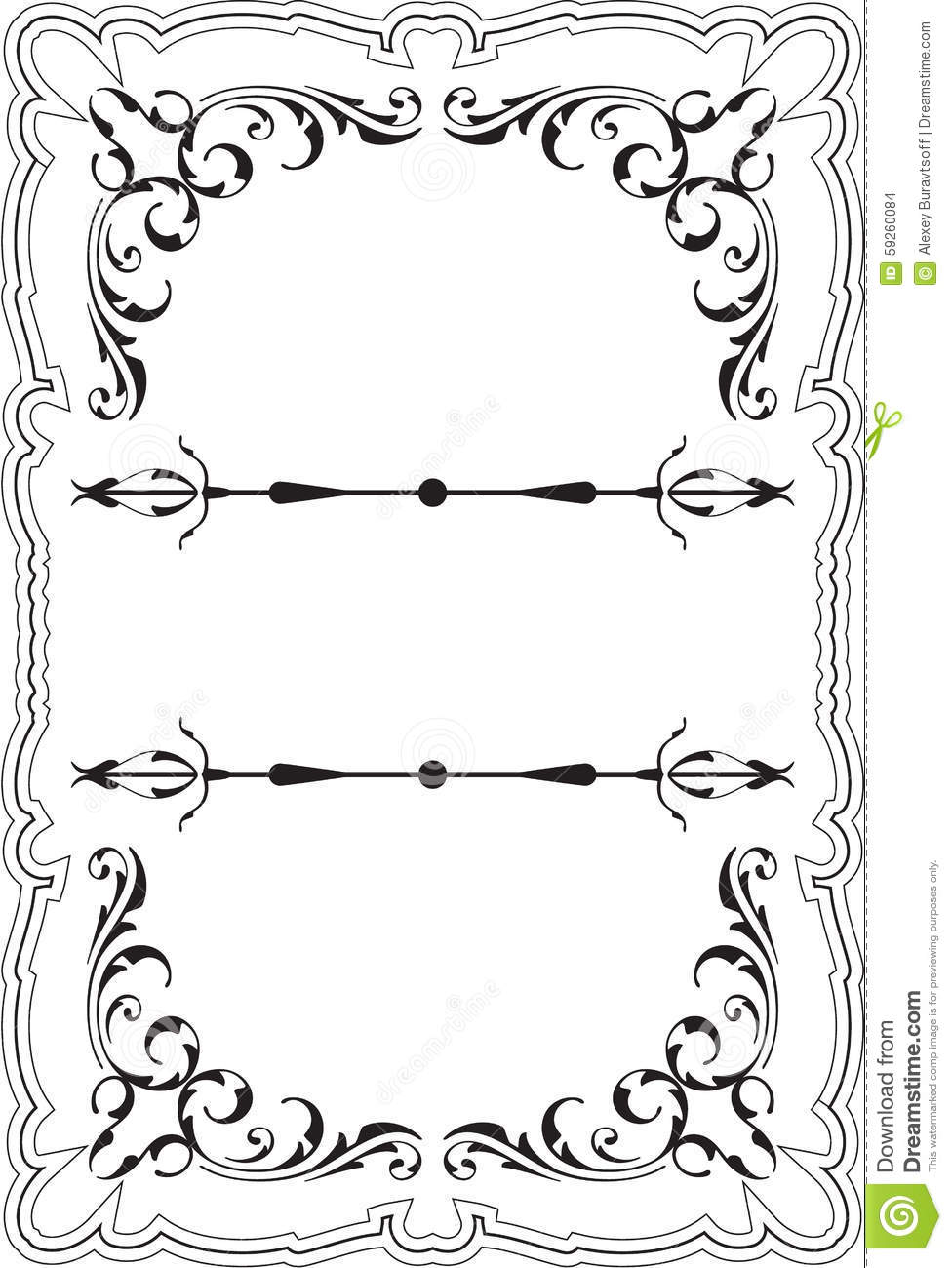 Scrolling perfect frame stock vector. Illustration of design - 59260084