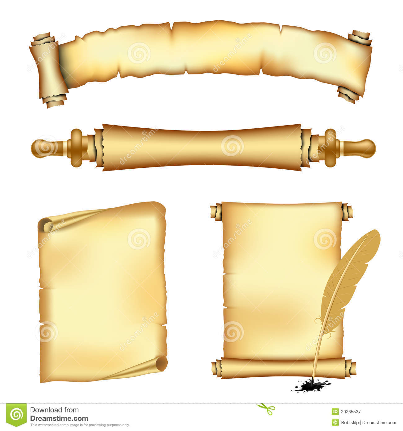 Scrolls And Banners Royalty Free Stock Photography - Image: 20265537