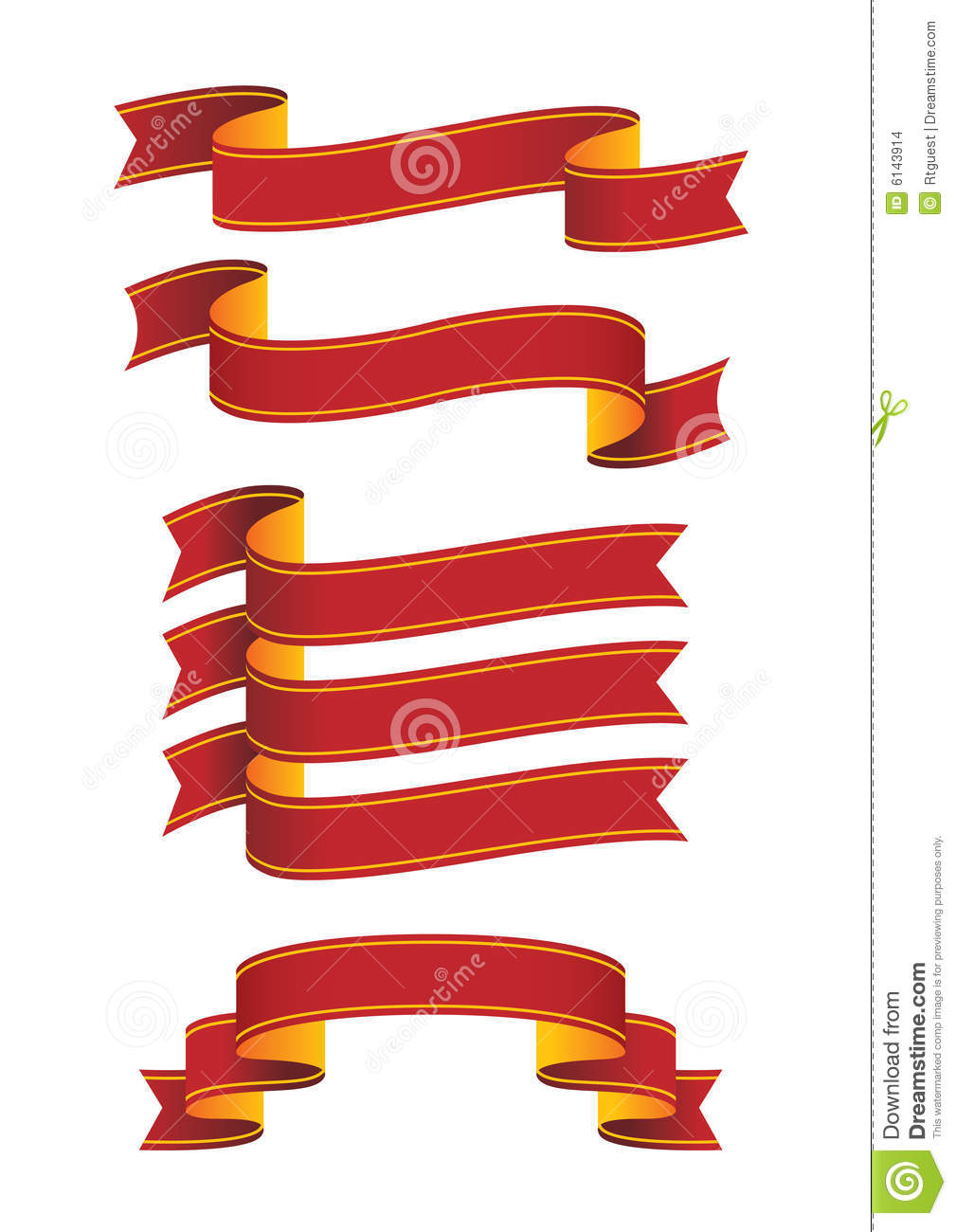 scrolls and banners stock images