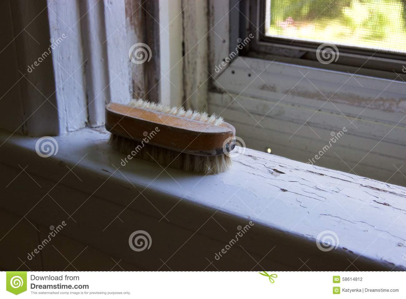 Old Scrub Brush Royalty Free Stock Images - Image: 13062529