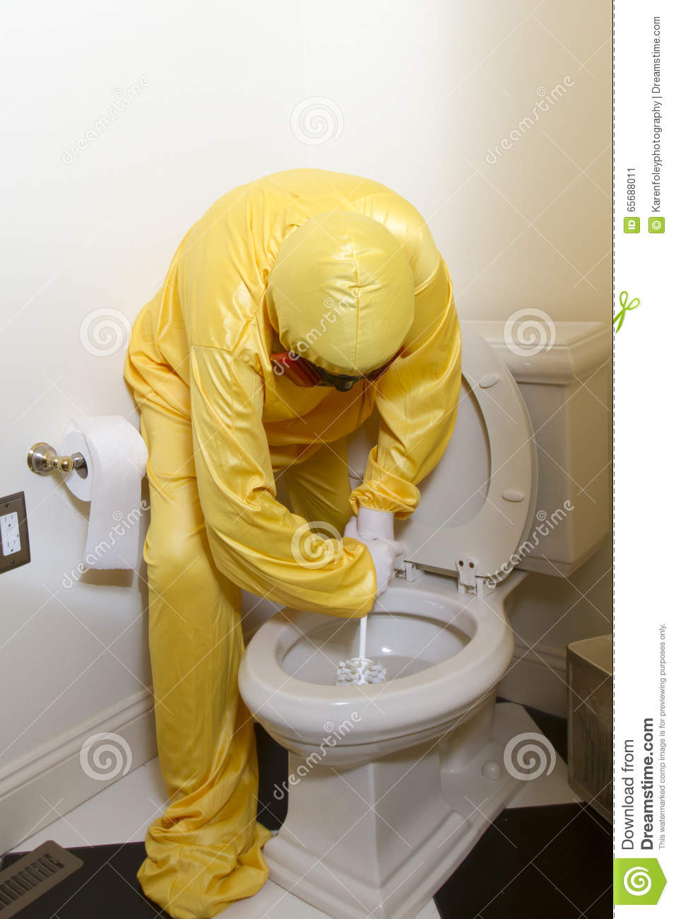 Scrubbing Filthy Toilet Stock Photo Image 65688011. Filthy Bathroom