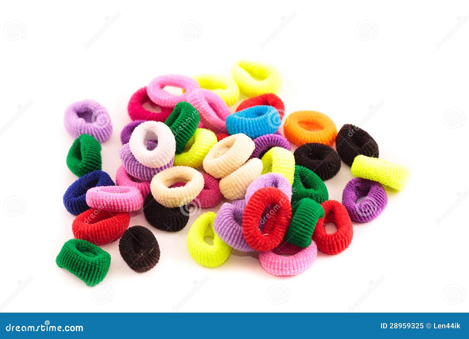Scrunchies - barwioni elastyczni zespoły dla dociskać włosy dla dzieci