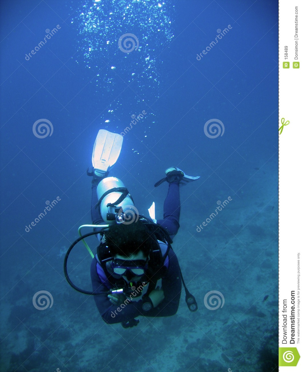 scuba diver arms crossed underwater sabang