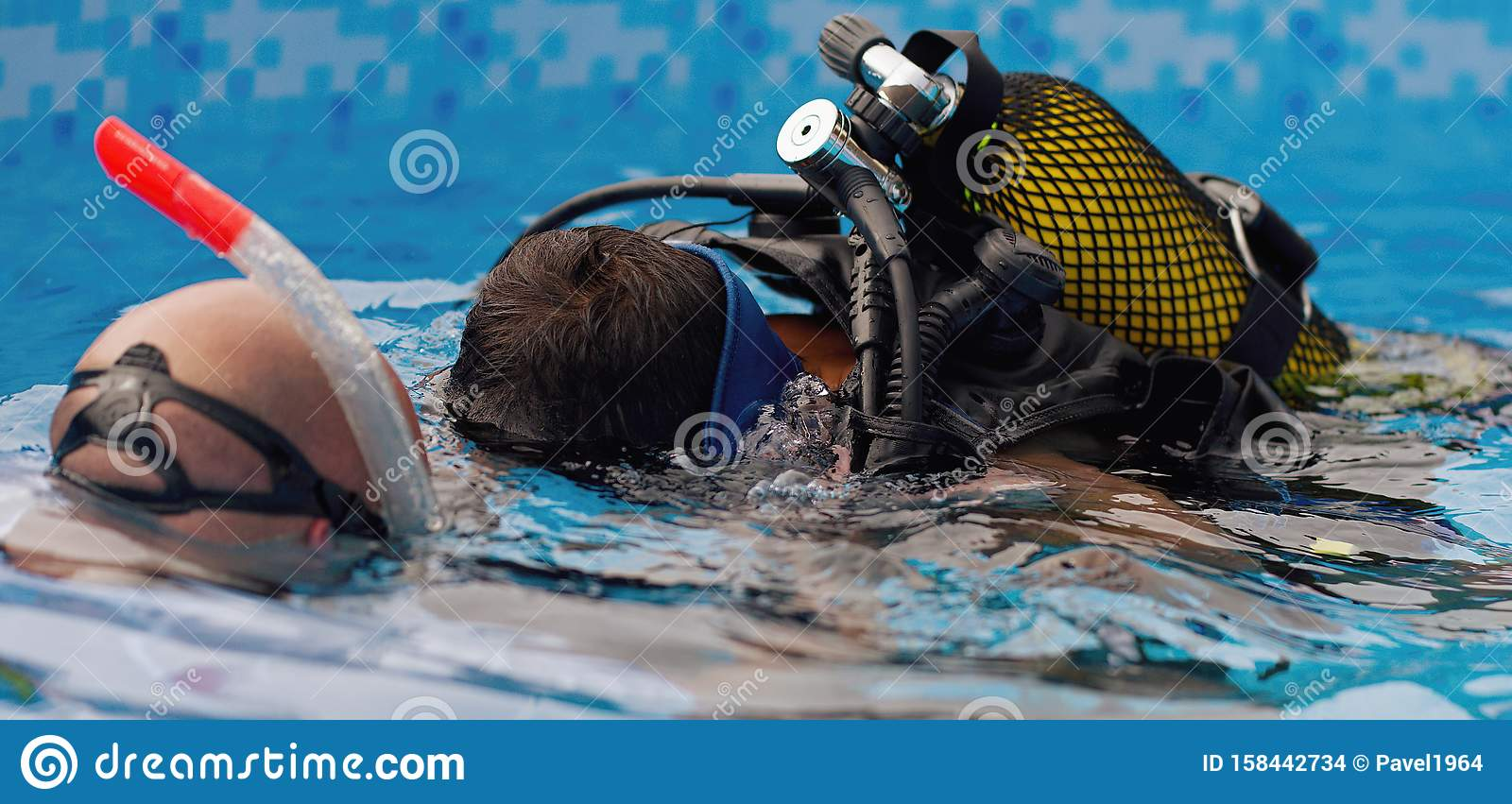 Scuba Diving Lesson With Children Stock Photo - Image of ...