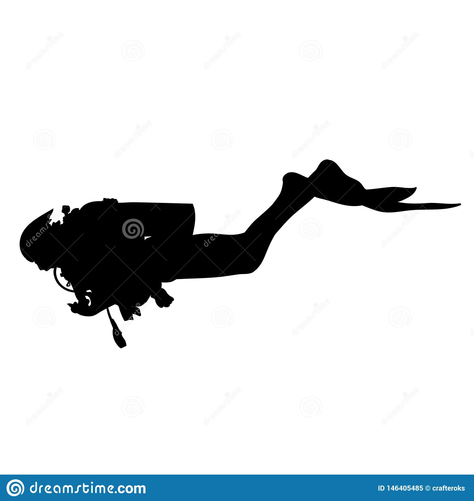 Scuba Diving Vector Eps Illustration By Crafteroks Stock
